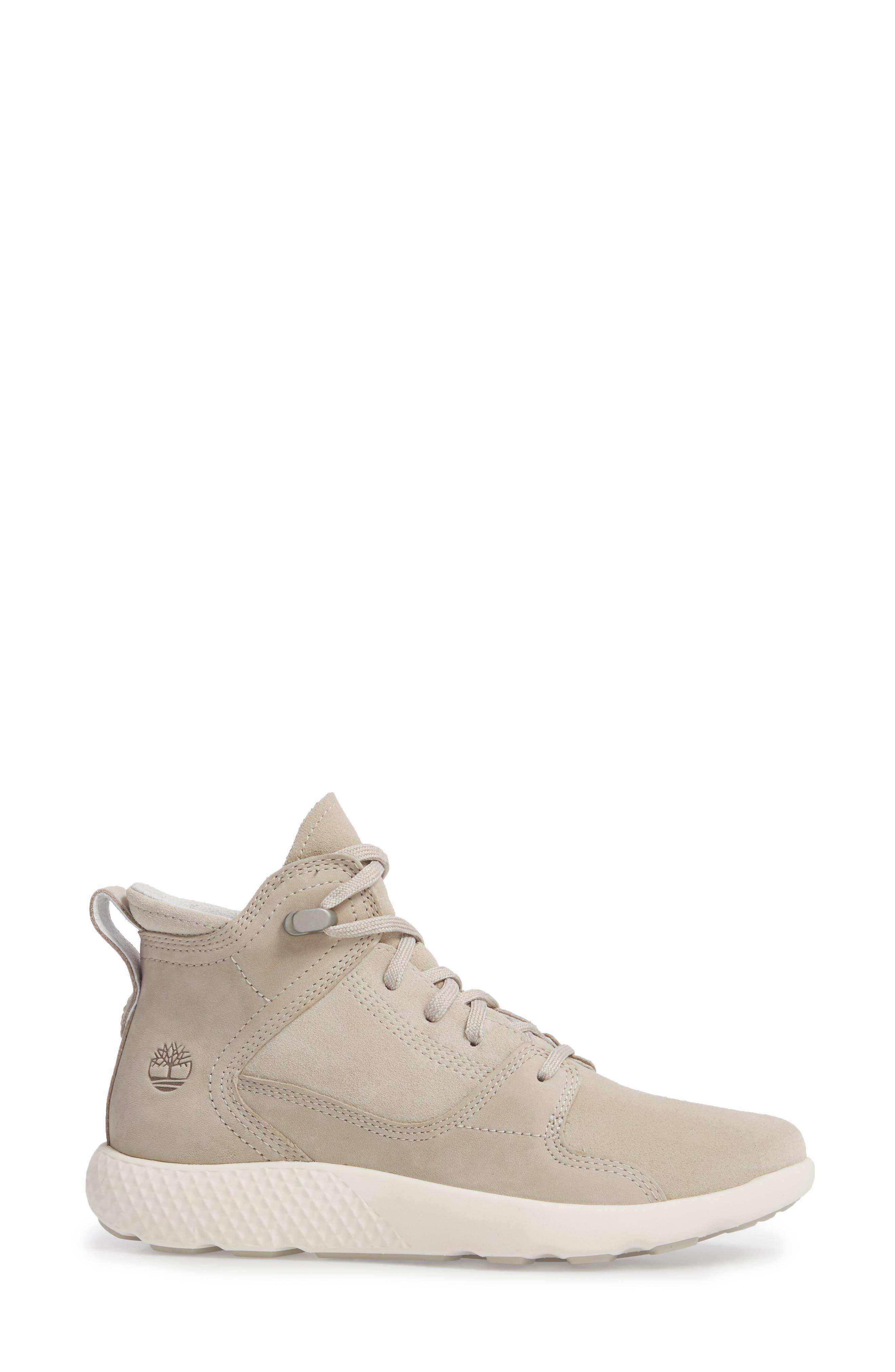FlyRoam Sneaker,                             Alternate thumbnail 3, color,                             Pure Cashmere Leather