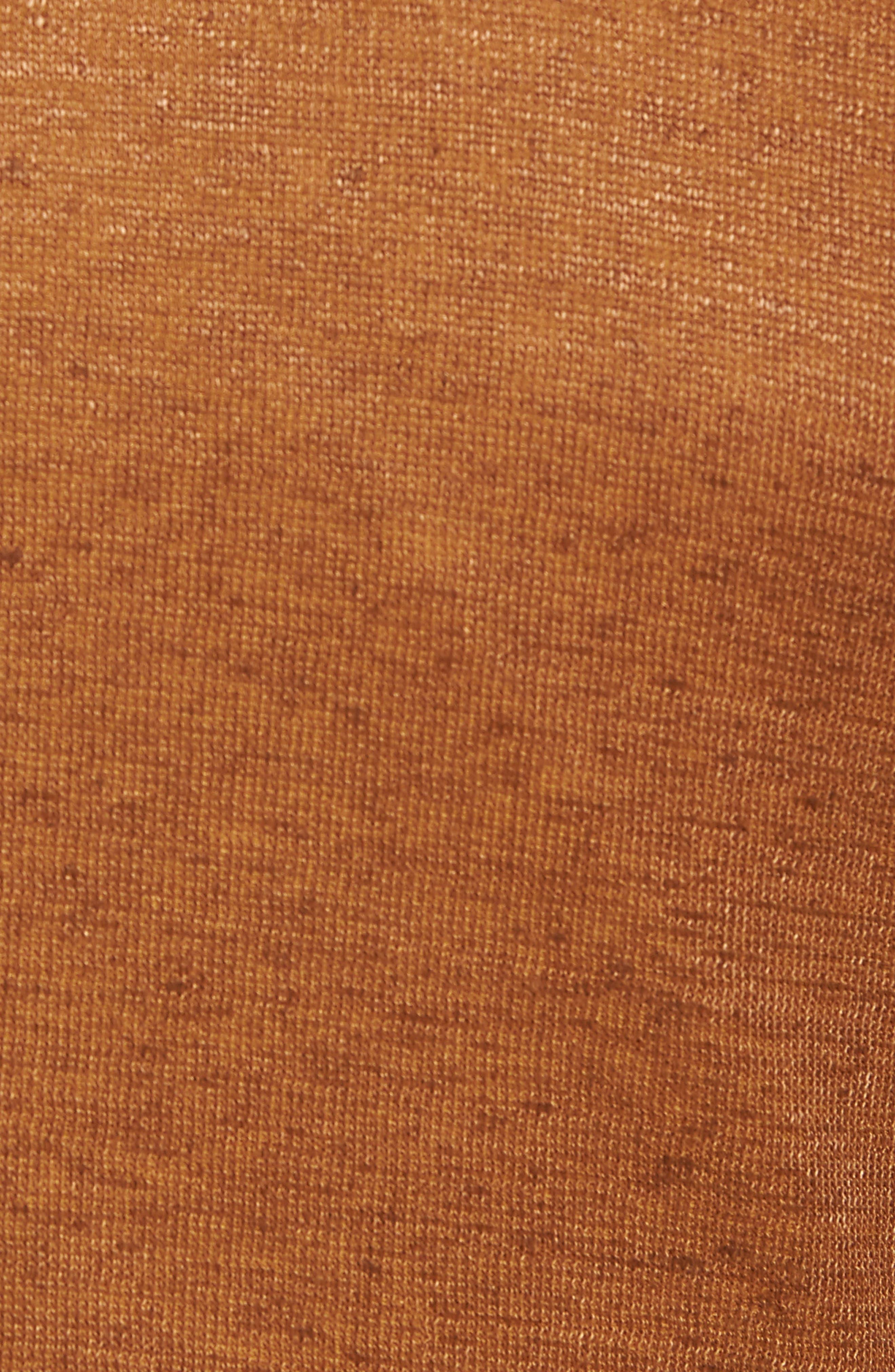 Trim Fit Heathered Jersey Blazer,                             Alternate thumbnail 5, color,                             Burnt Sienna