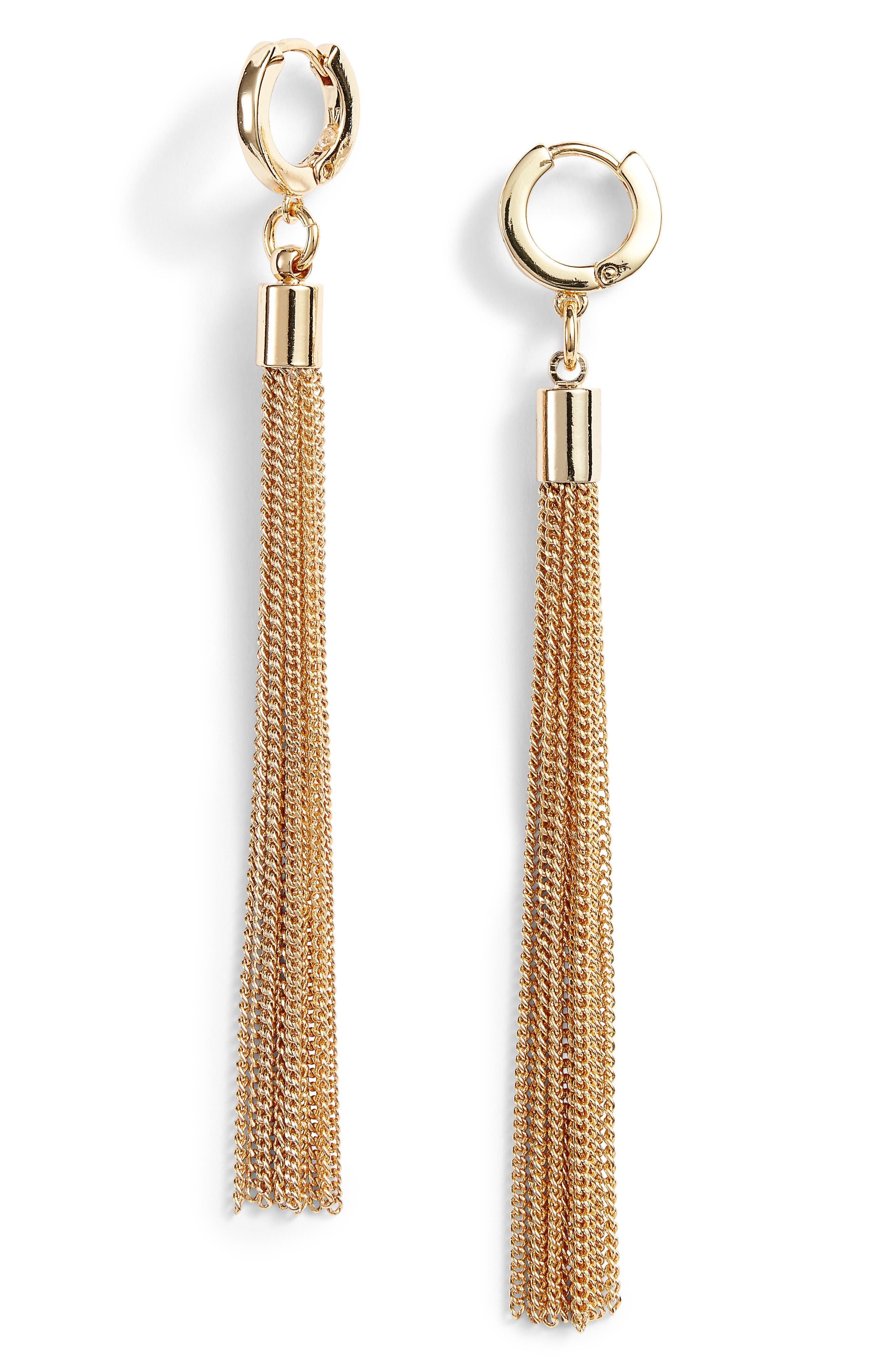 Vince Camuto Long Tassel Earrings