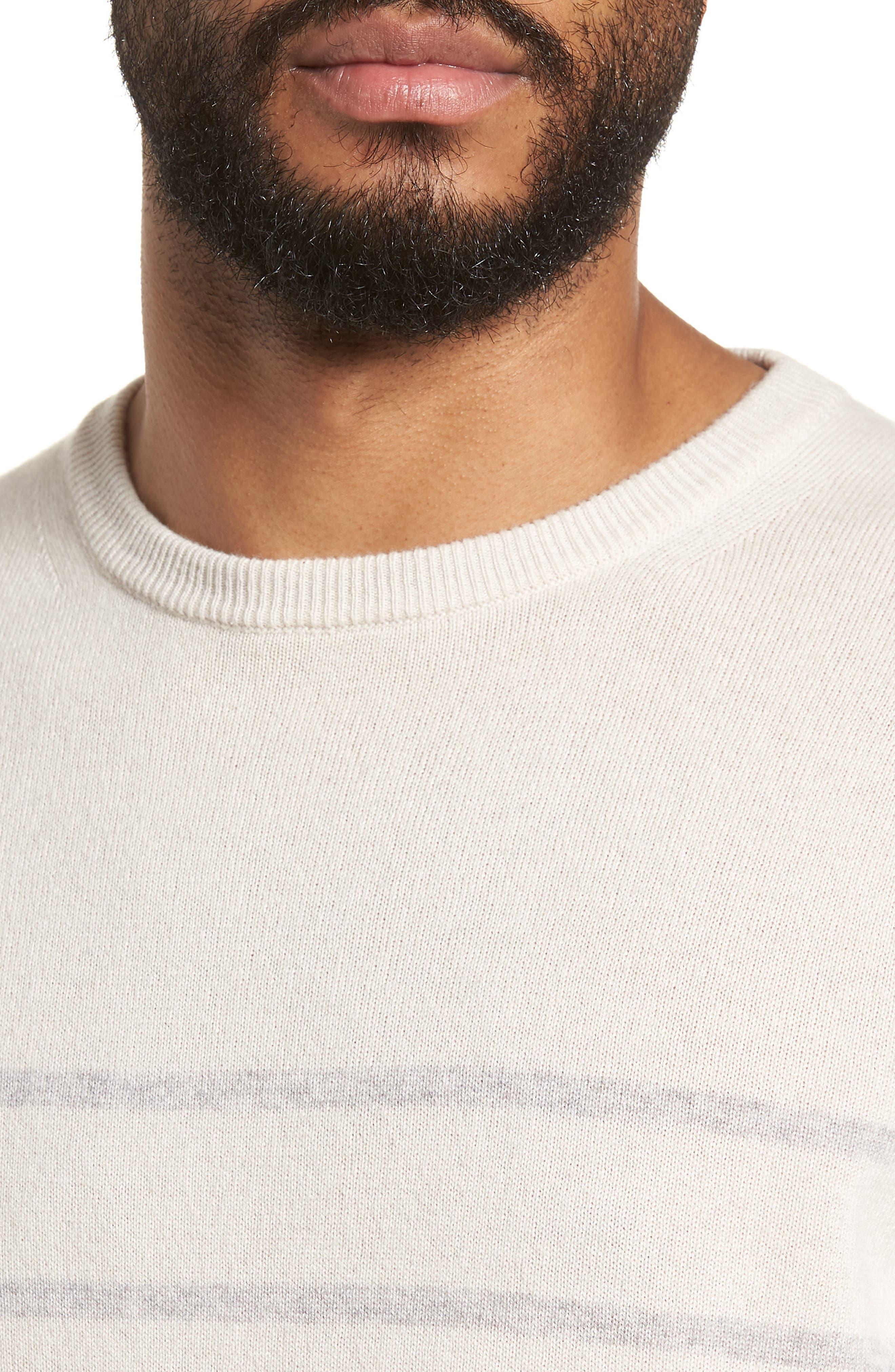 Cashmere Crewneck Sweater,                             Alternate thumbnail 4, color,                             Ivory