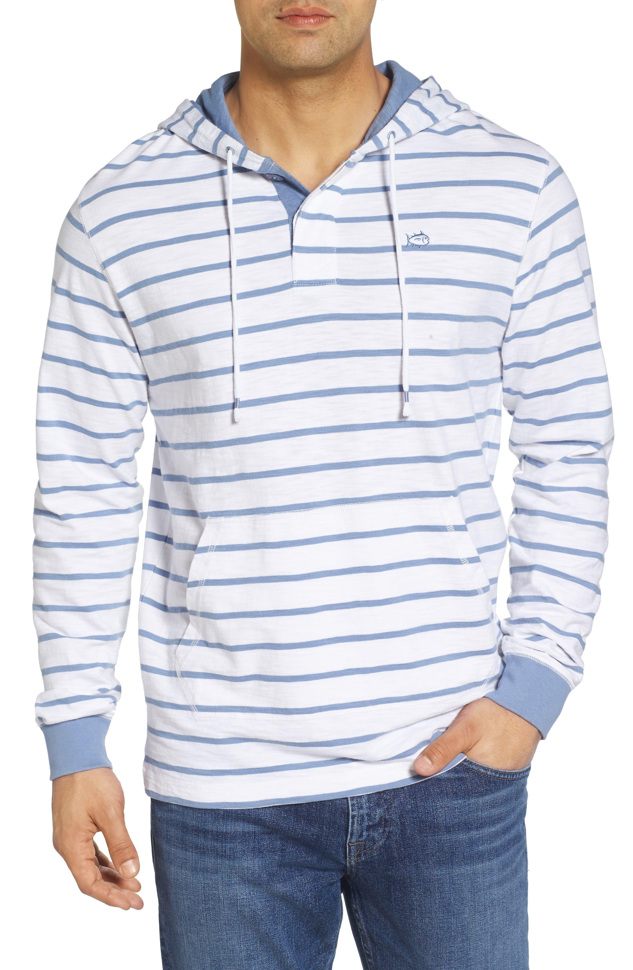 Ocean Course Slub Cotton Hoodie,                             Main thumbnail 1, color,                             Squall Grey