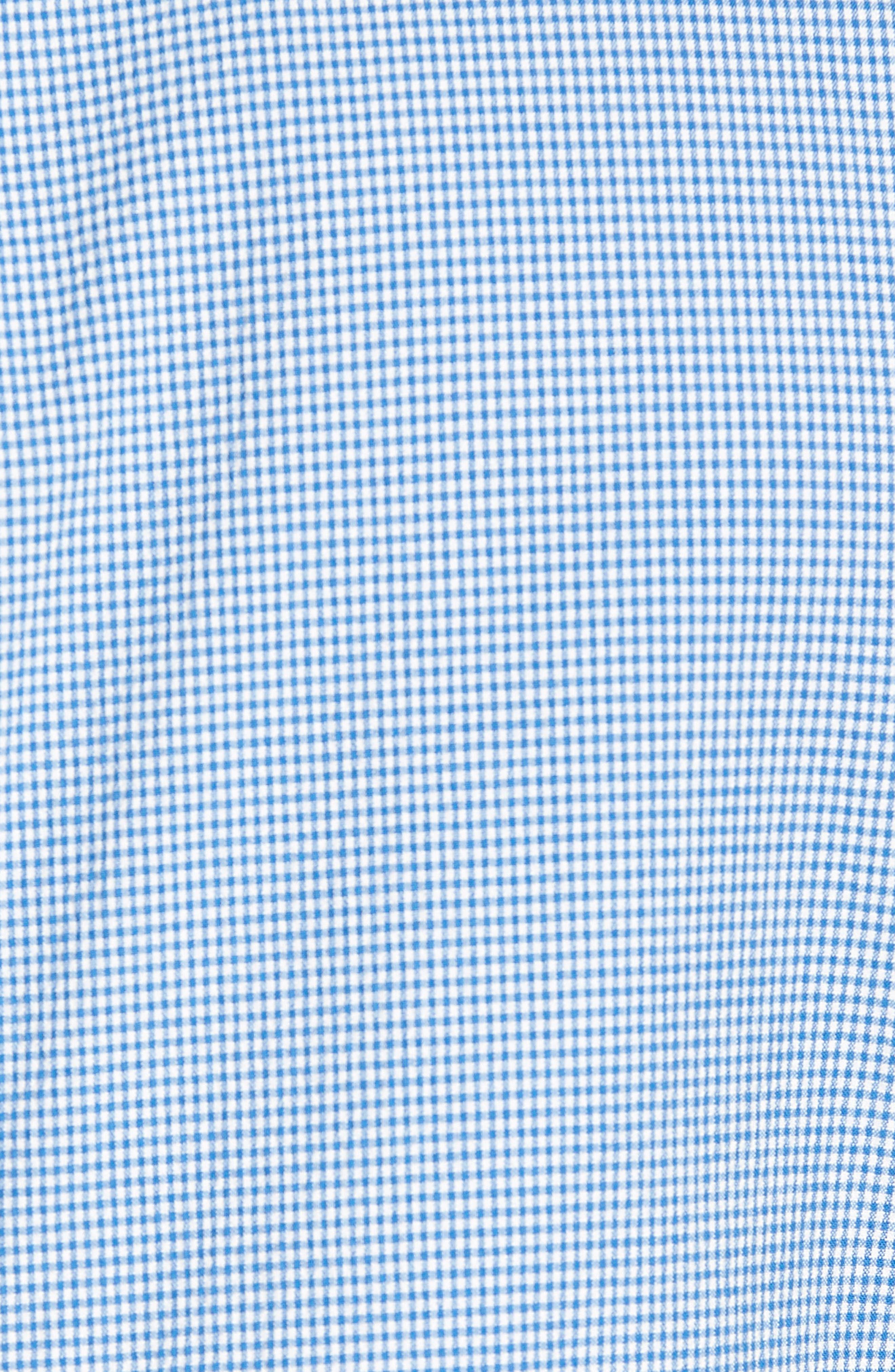 Slim Fit Microcheck Soft Sport Coat,                             Alternate thumbnail 5, color,                             Blue