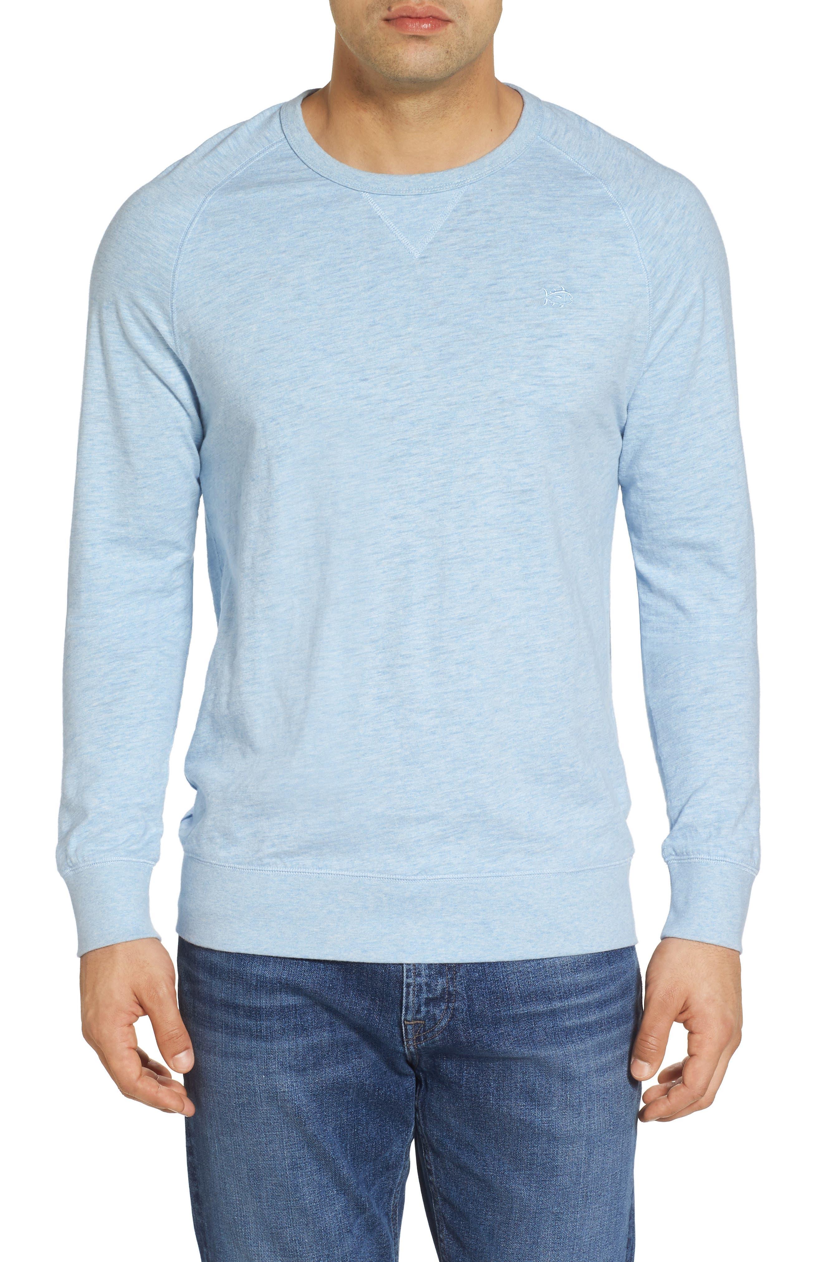Ocean Course Crewneck Sweatshirt,                         Main,                         color, Sky Blue