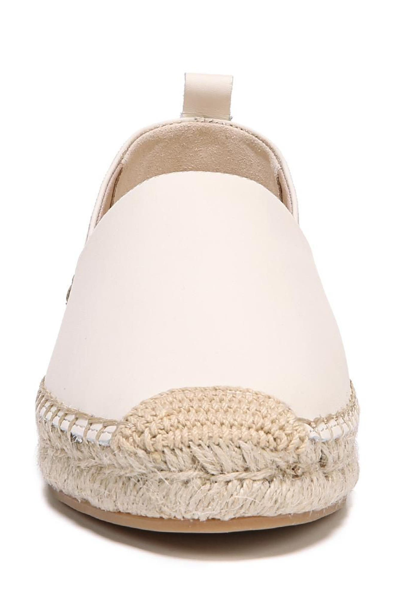 Khloe Espadrille Flat,                             Alternate thumbnail 4, color,                             Modern Ivory Leather