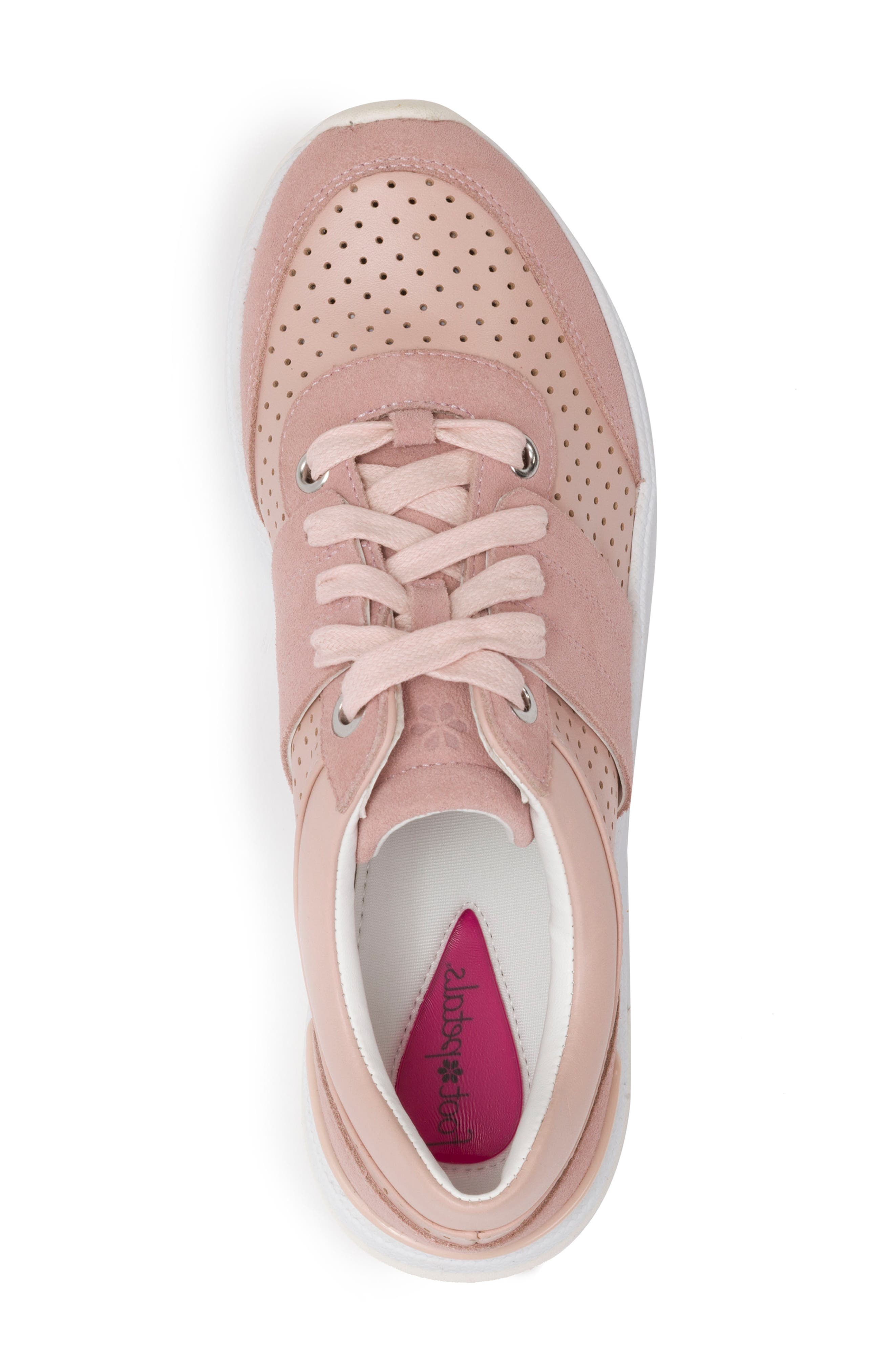 Bea Sneaker,                             Alternate thumbnail 5, color,                             Blush Leather