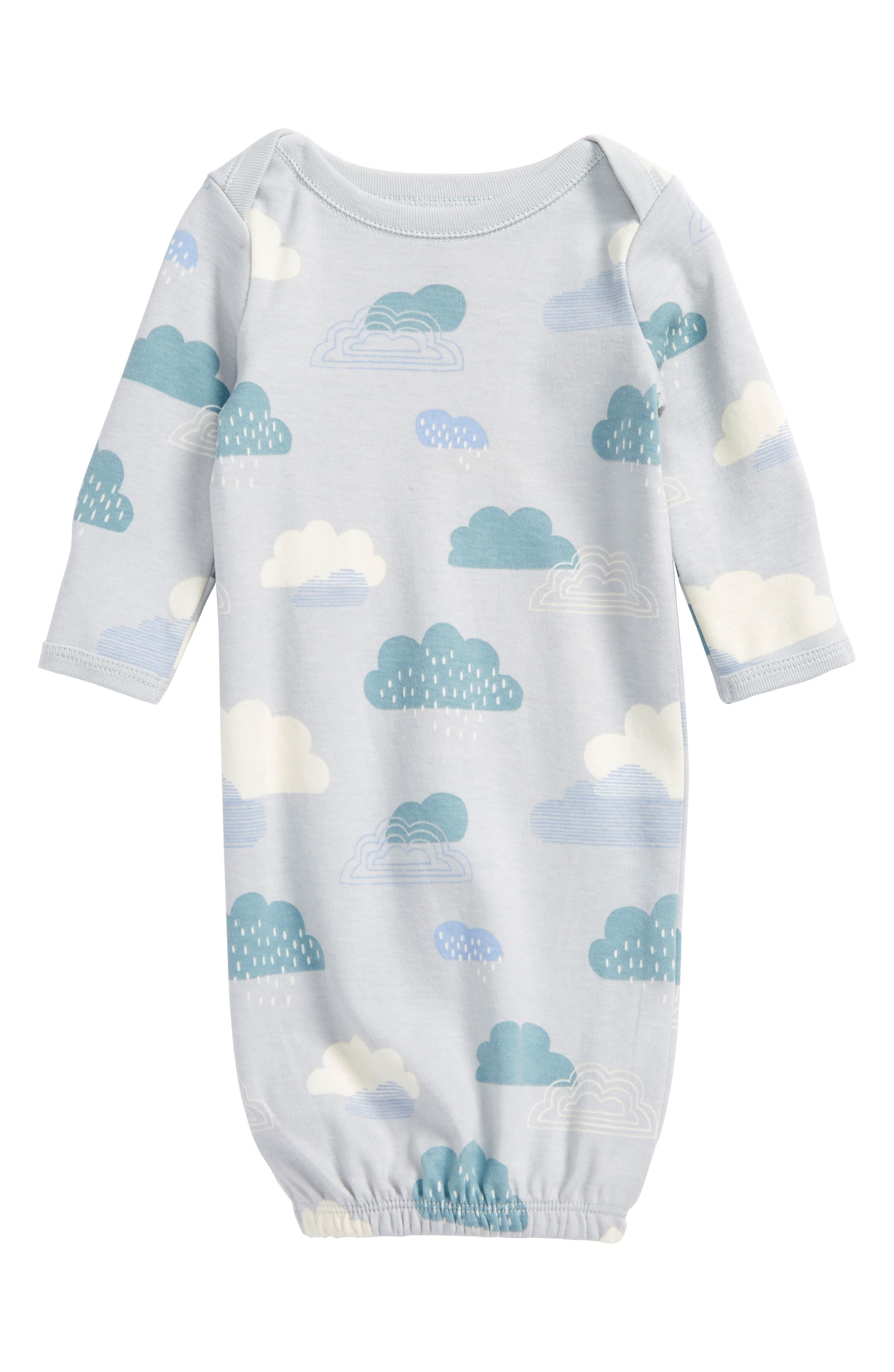 Cloud Print Gown,                             Main thumbnail 1, color,                             Clouds