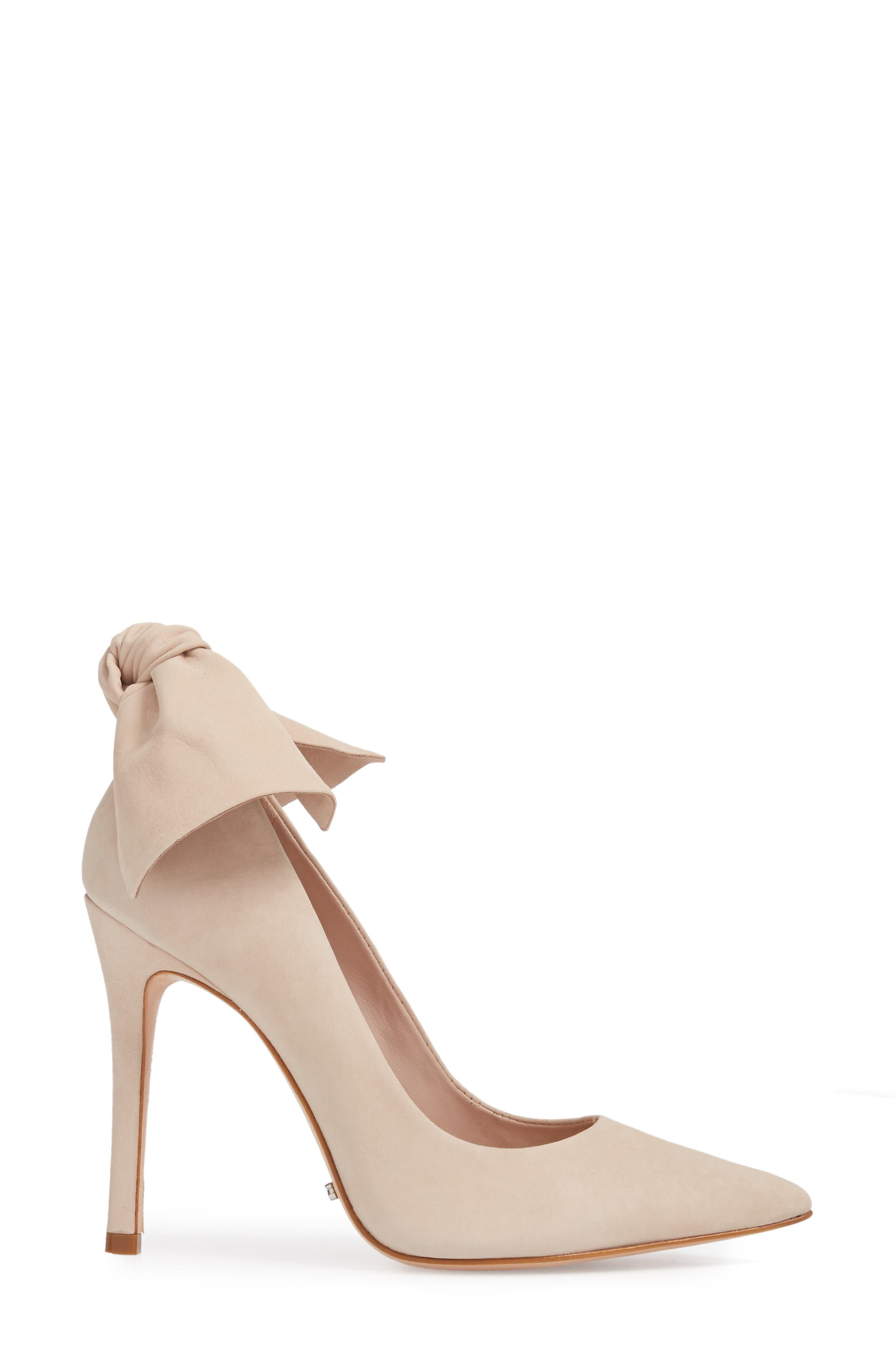 Blasiana Bow Pump,                             Alternate thumbnail 3, color,                             Bellini Leather