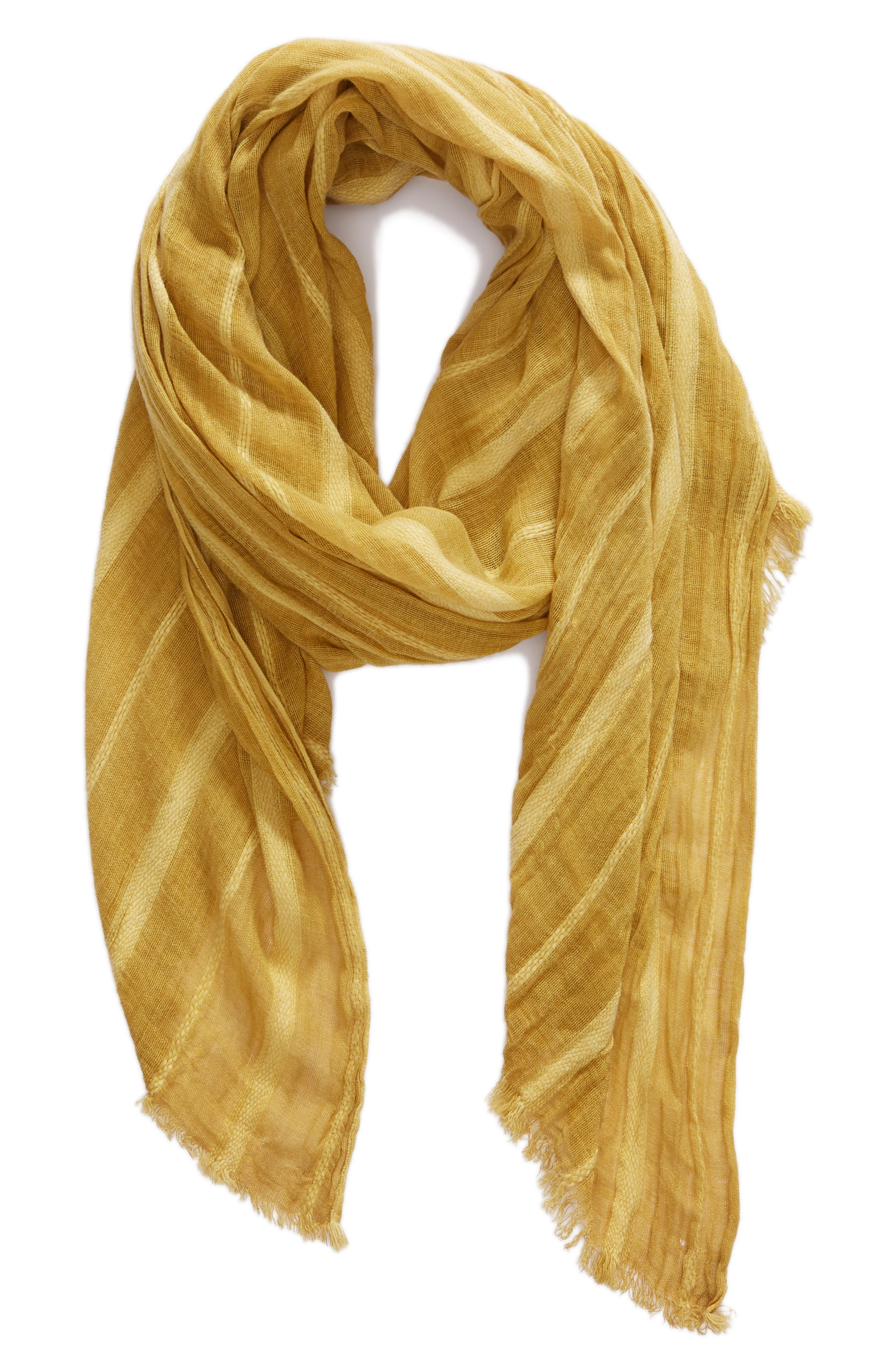 Solid Ribbed Wrap Scarf,                             Alternate thumbnail 2, color,                             Yellow Glow