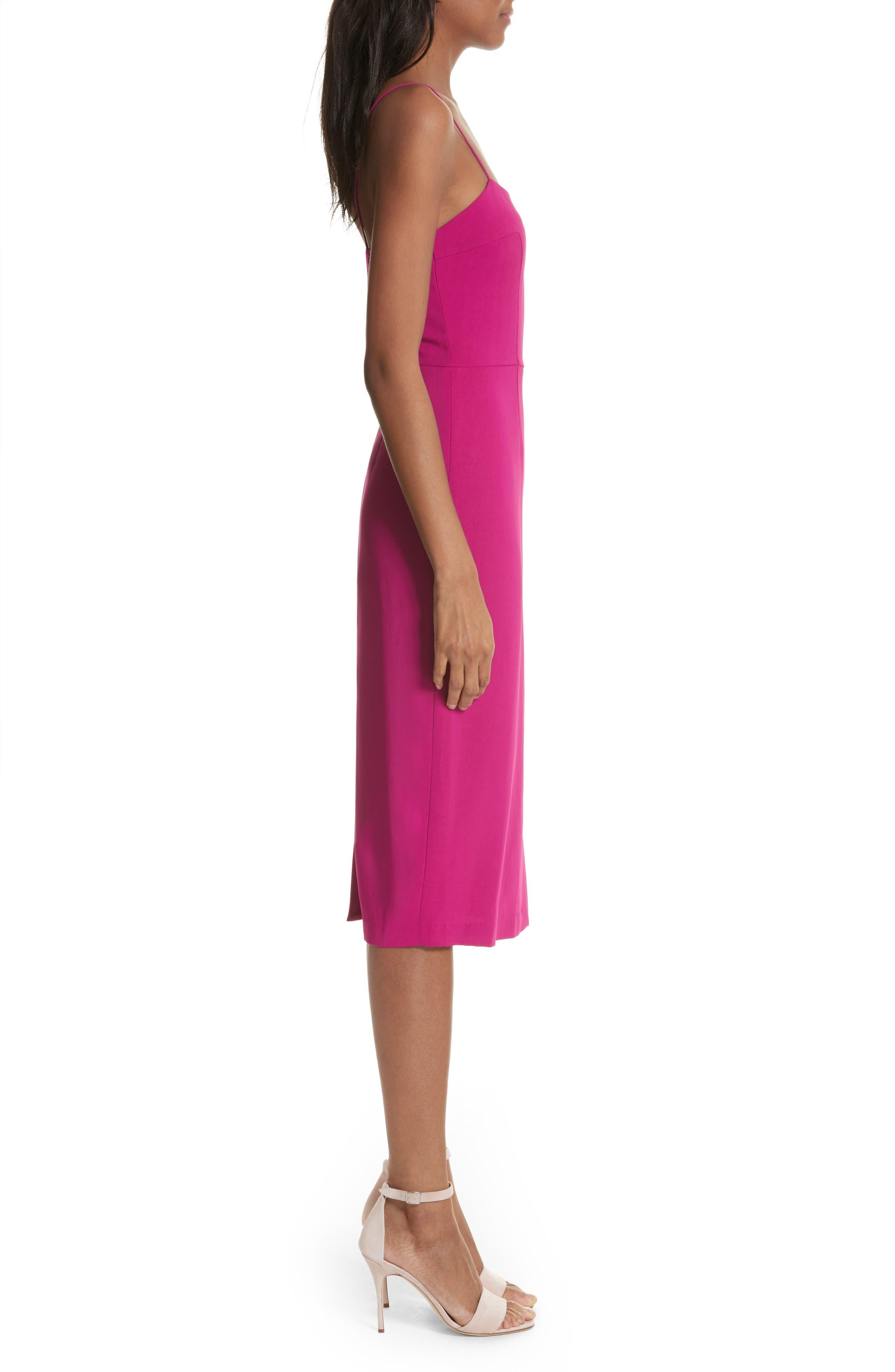 Slip Sheath Dress,                             Alternate thumbnail 3, color,                             Cyclamen