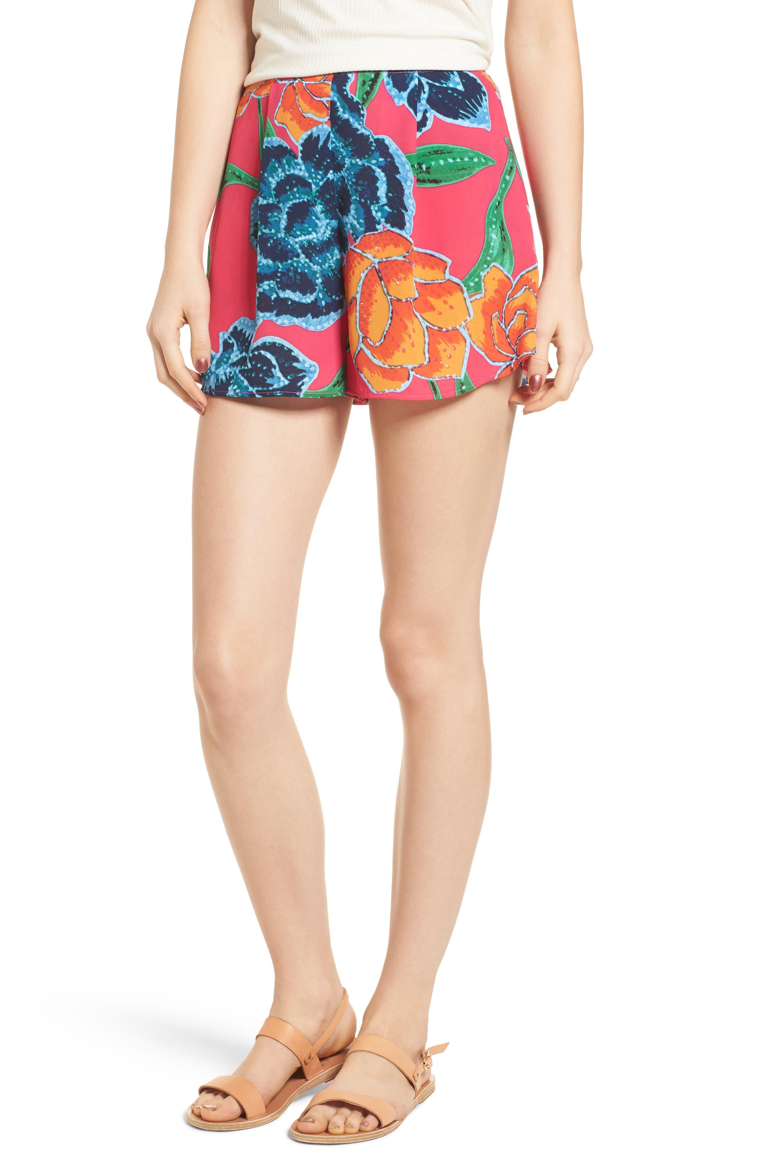 Sawyer Shorts,                         Main,                         color, Floratopia