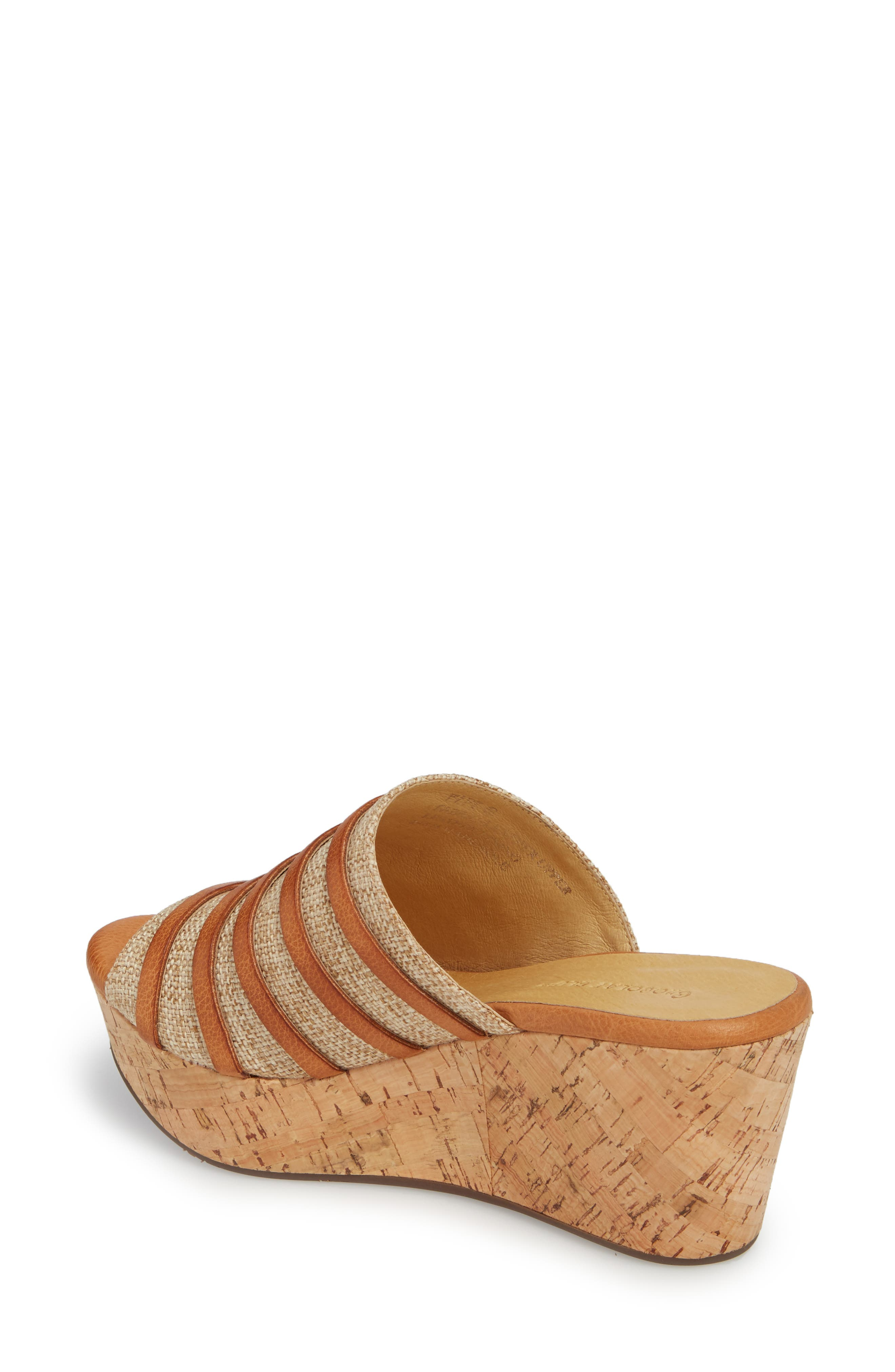 Wapi Wedge Sandal,                             Alternate thumbnail 2, color,                             Camel Leather
