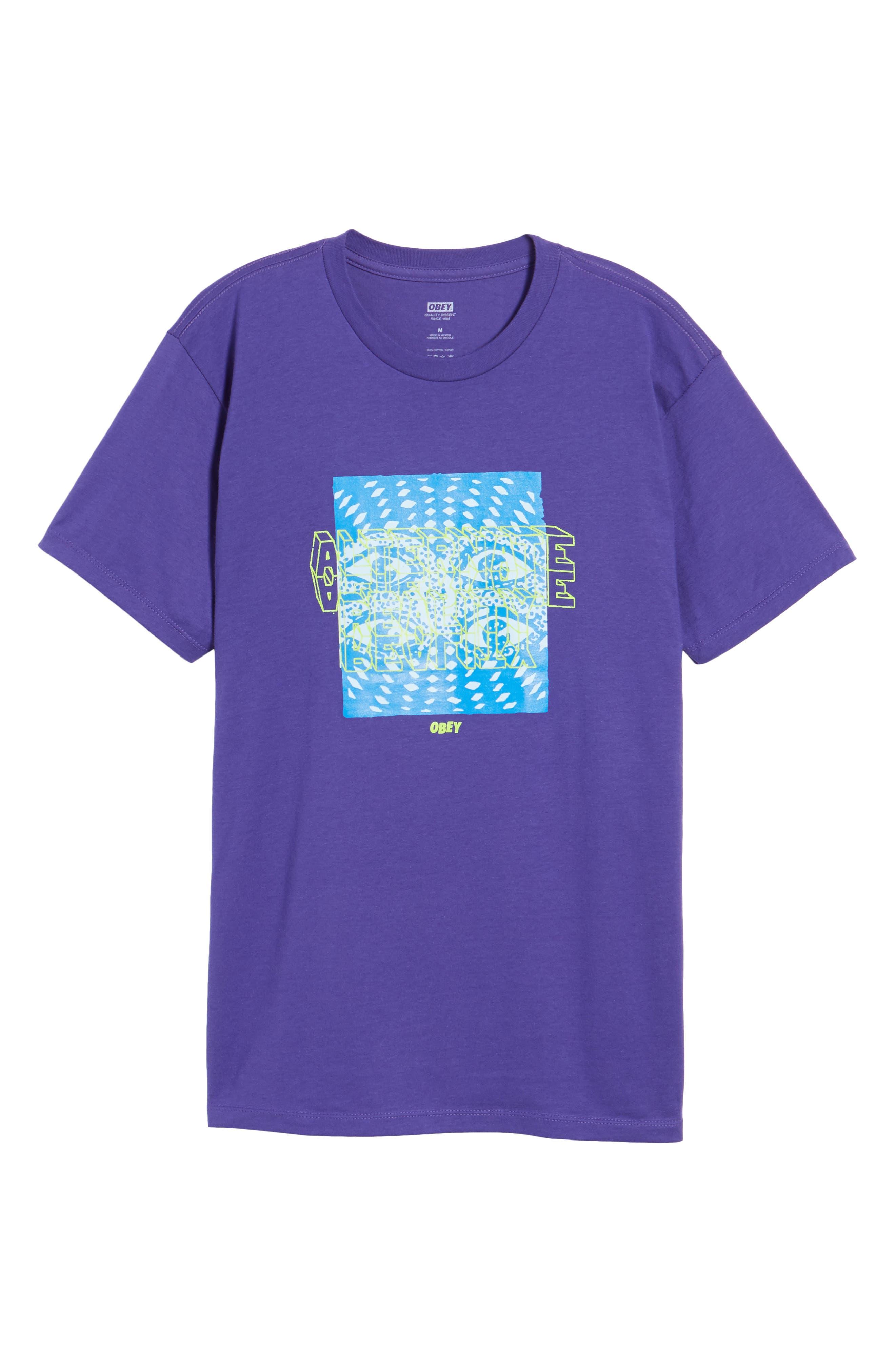 Alternate Reality Graphic T-Shirt,                             Alternate thumbnail 6, color,                             Purple