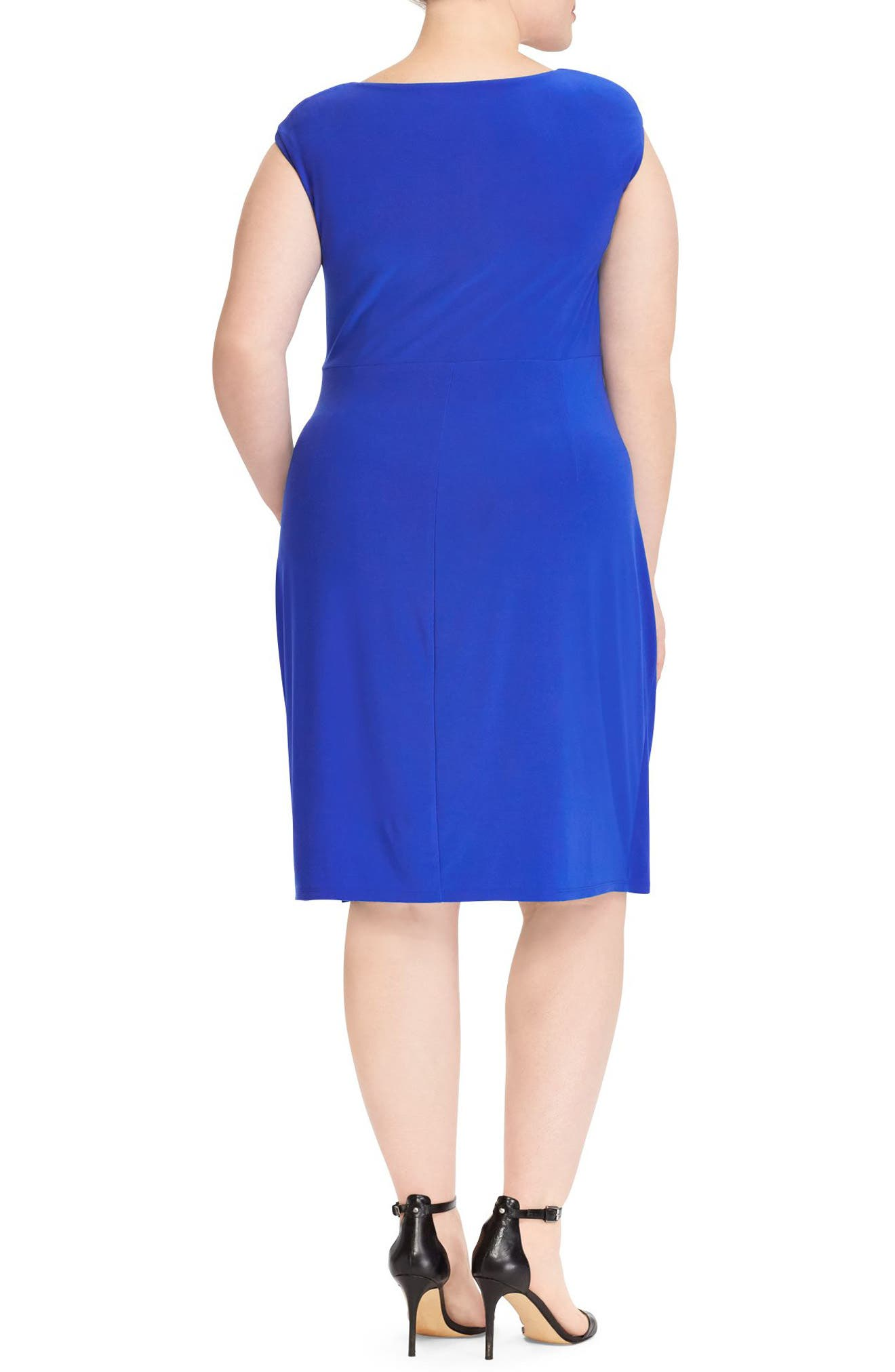 Adara Sheath Dress,                             Alternate thumbnail 2, color,                             Deep Lapis