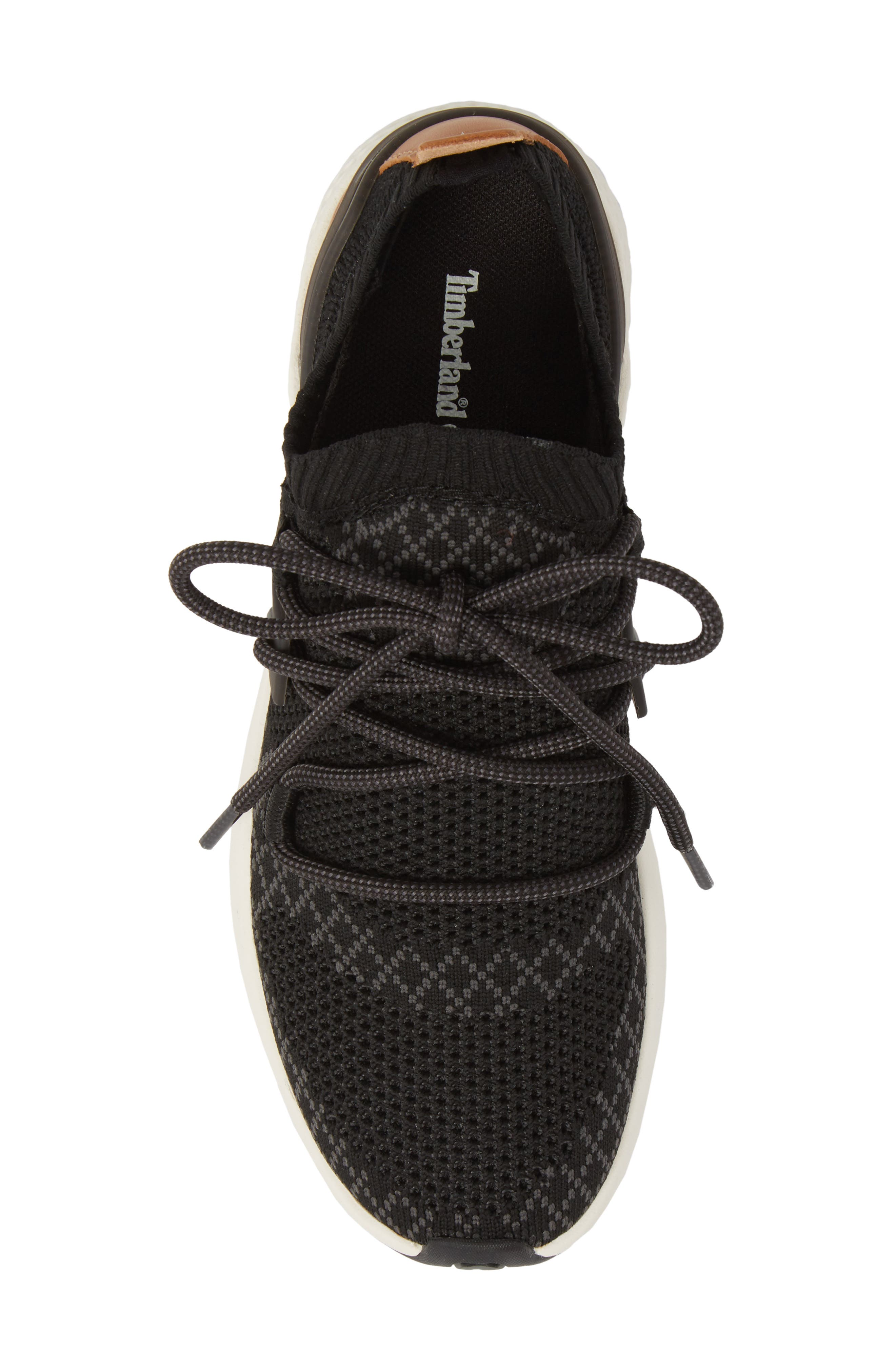 FlyRoam Go Knit Sneaker,                             Alternate thumbnail 5, color,                             Black Fabric