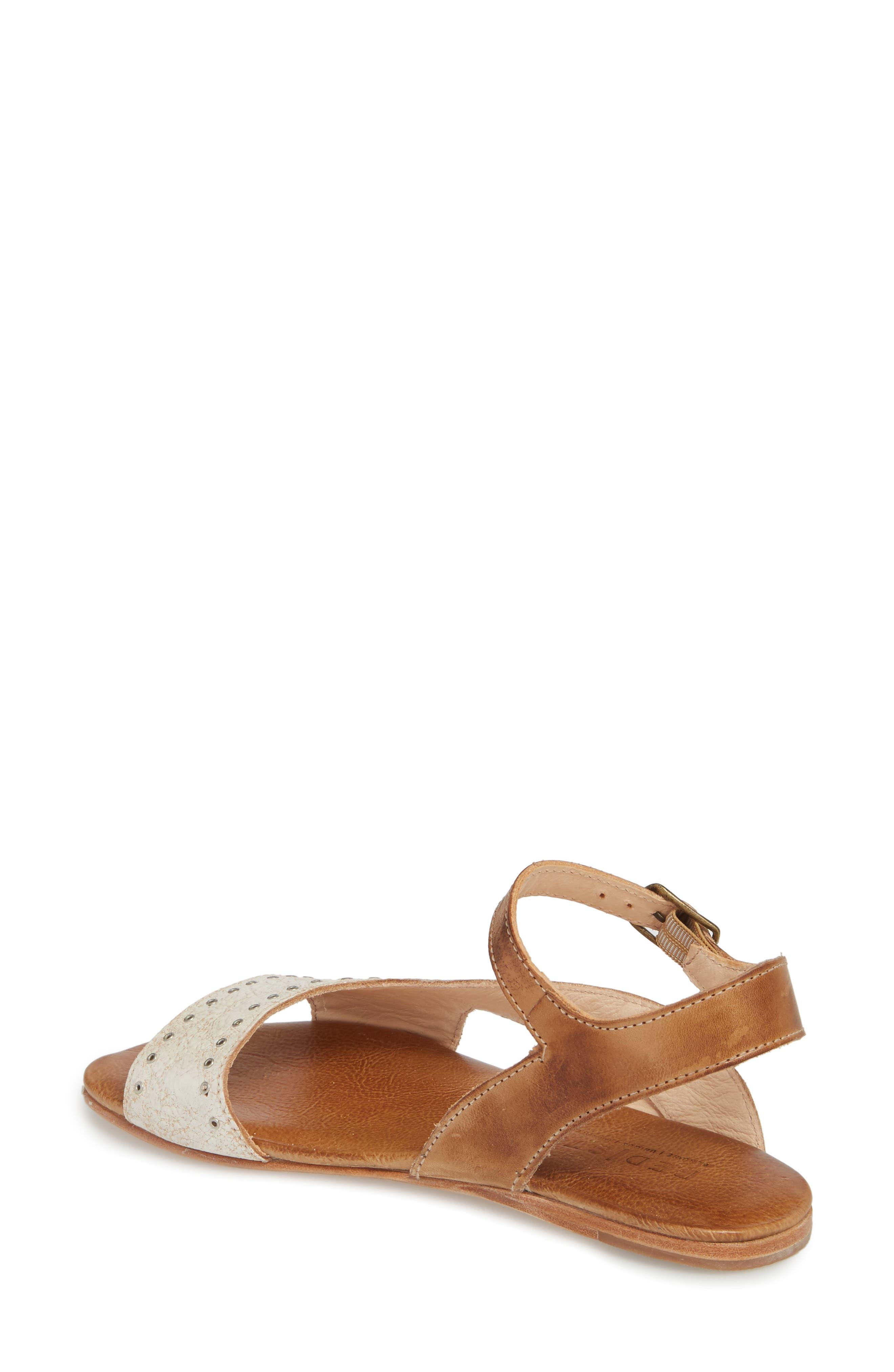 Auburn Flat Sandal,                             Alternate thumbnail 2, color,                             Nectar/ Tan Leather