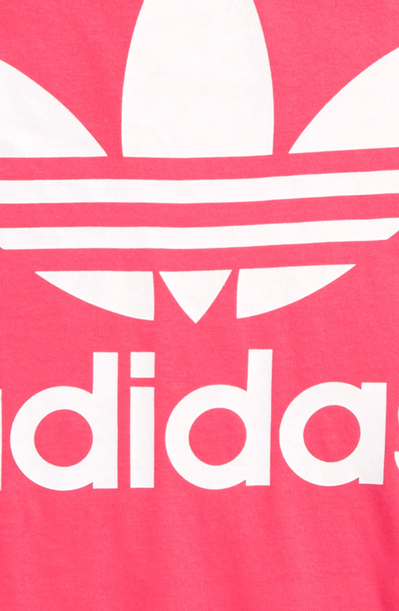 adidas Trefoil Tee,                             Alternate thumbnail 2, color,                             Real Pink / White
