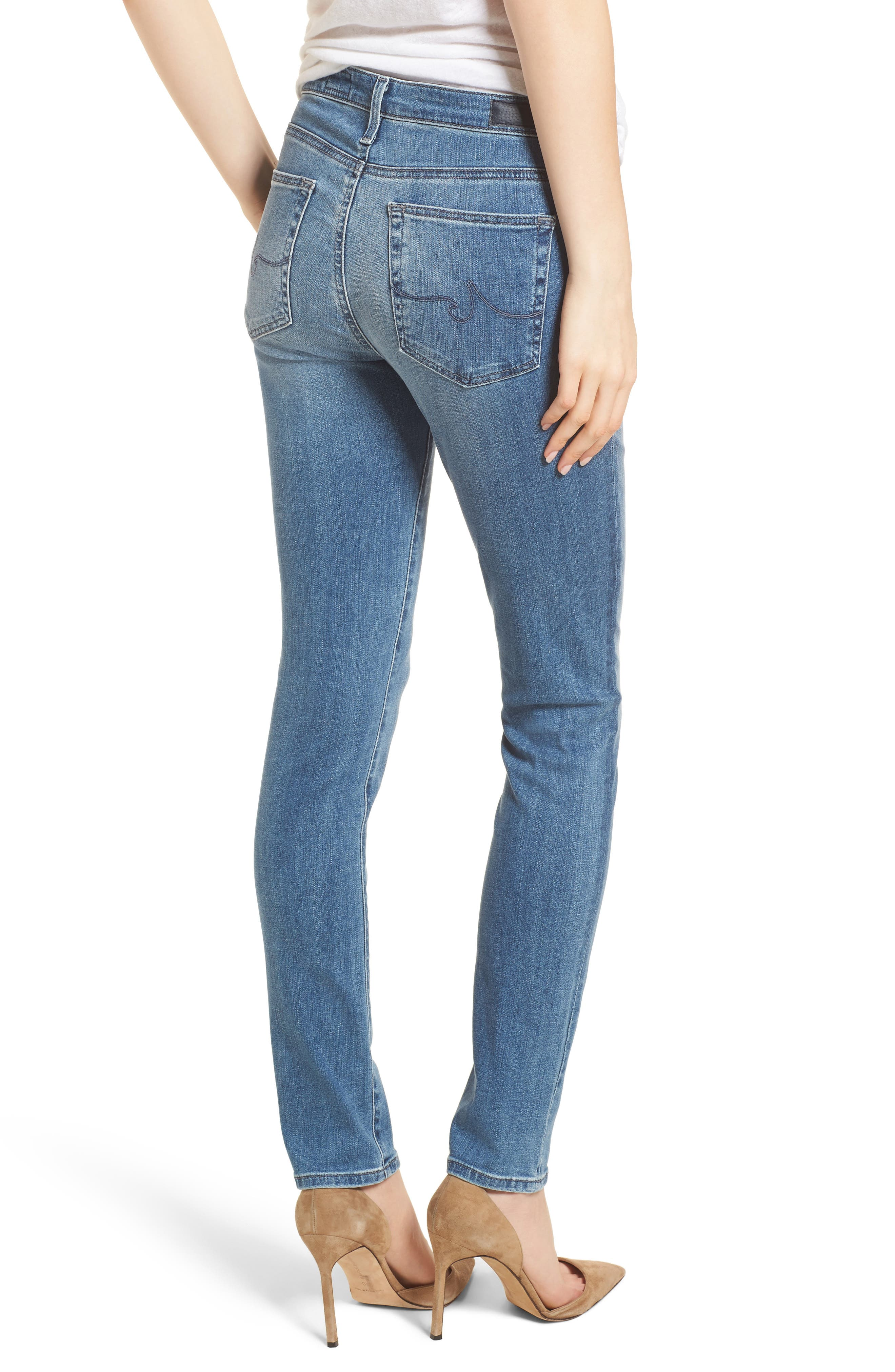 'Prima' Skinny Jeans,                             Alternate thumbnail 2, color,                             Sea Sprite