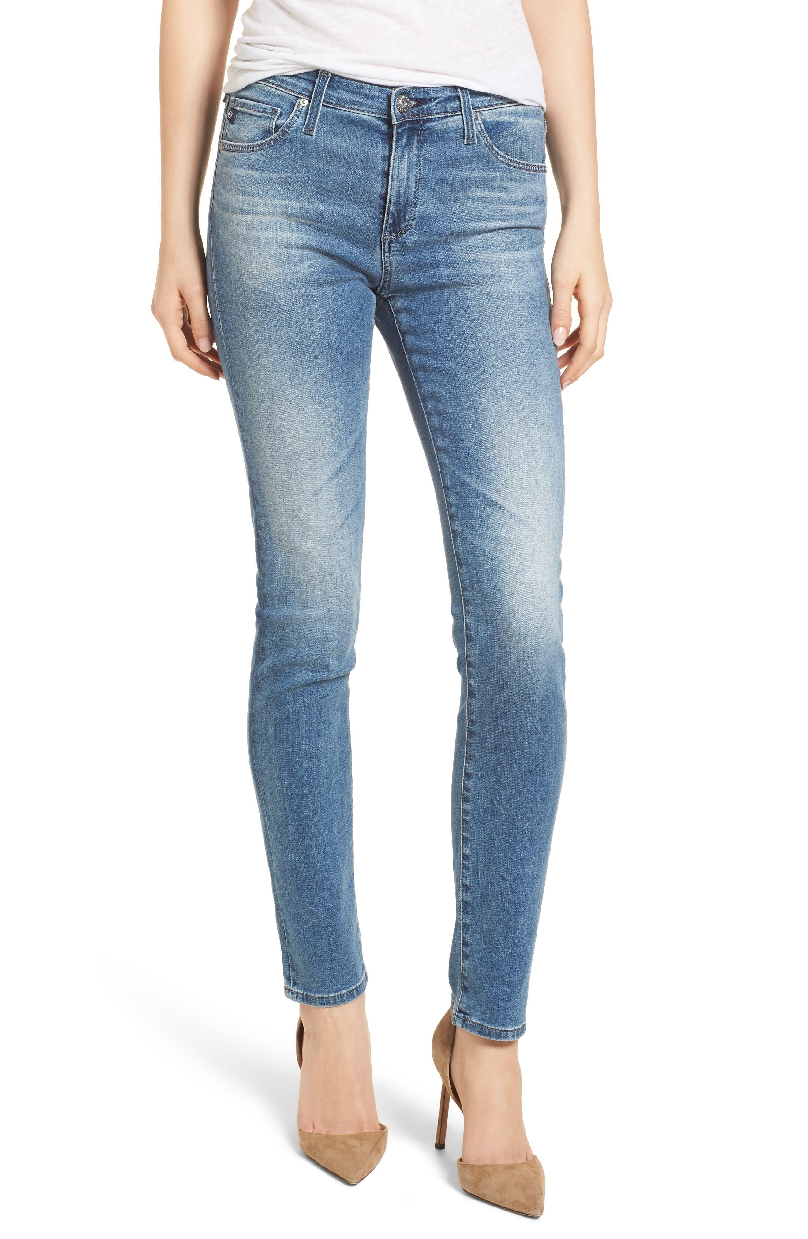 'Prima' Skinny Jeans,                         Main,                         color, Sea Sprite