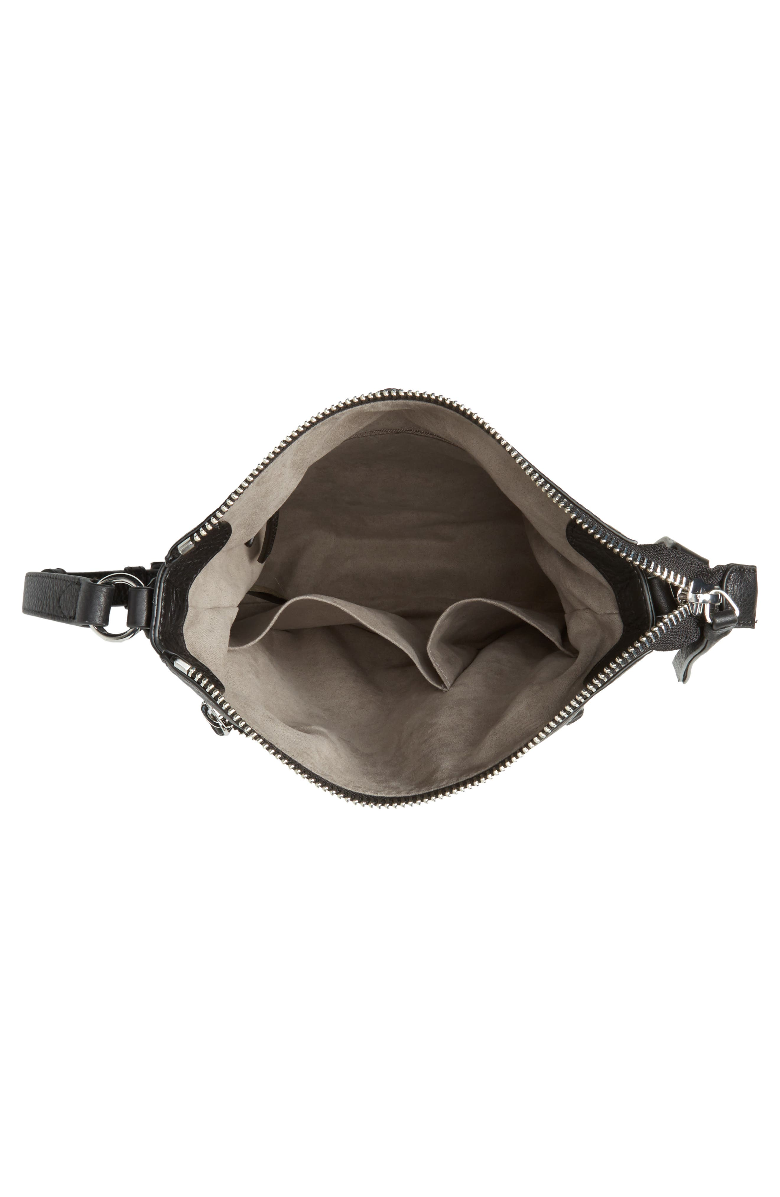 Staja Leather Crossbody Bag,                             Alternate thumbnail 5, color,                             Nero