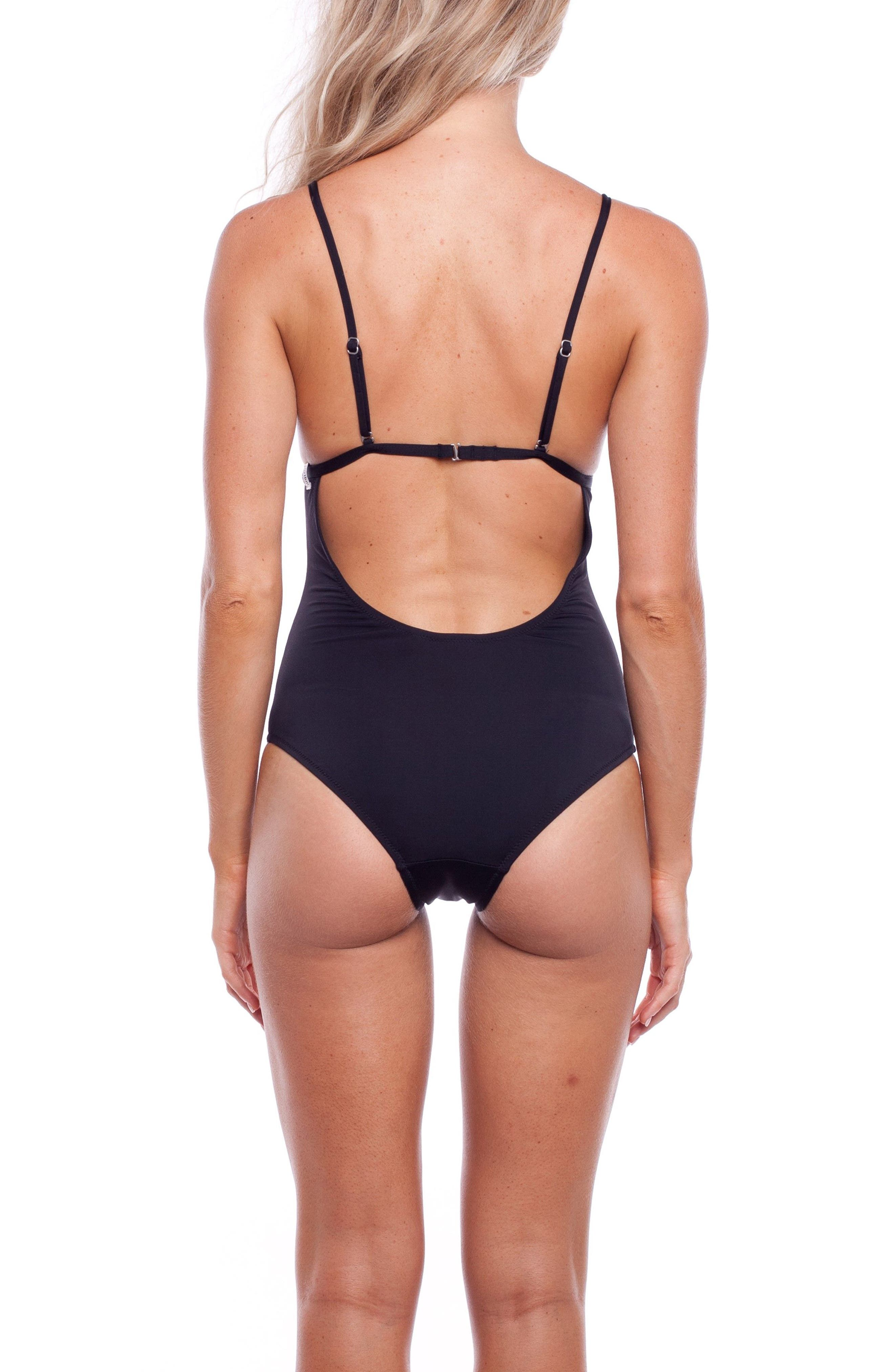 My Bralette One-Piece Swimsuit,                             Alternate thumbnail 2, color,                             Black