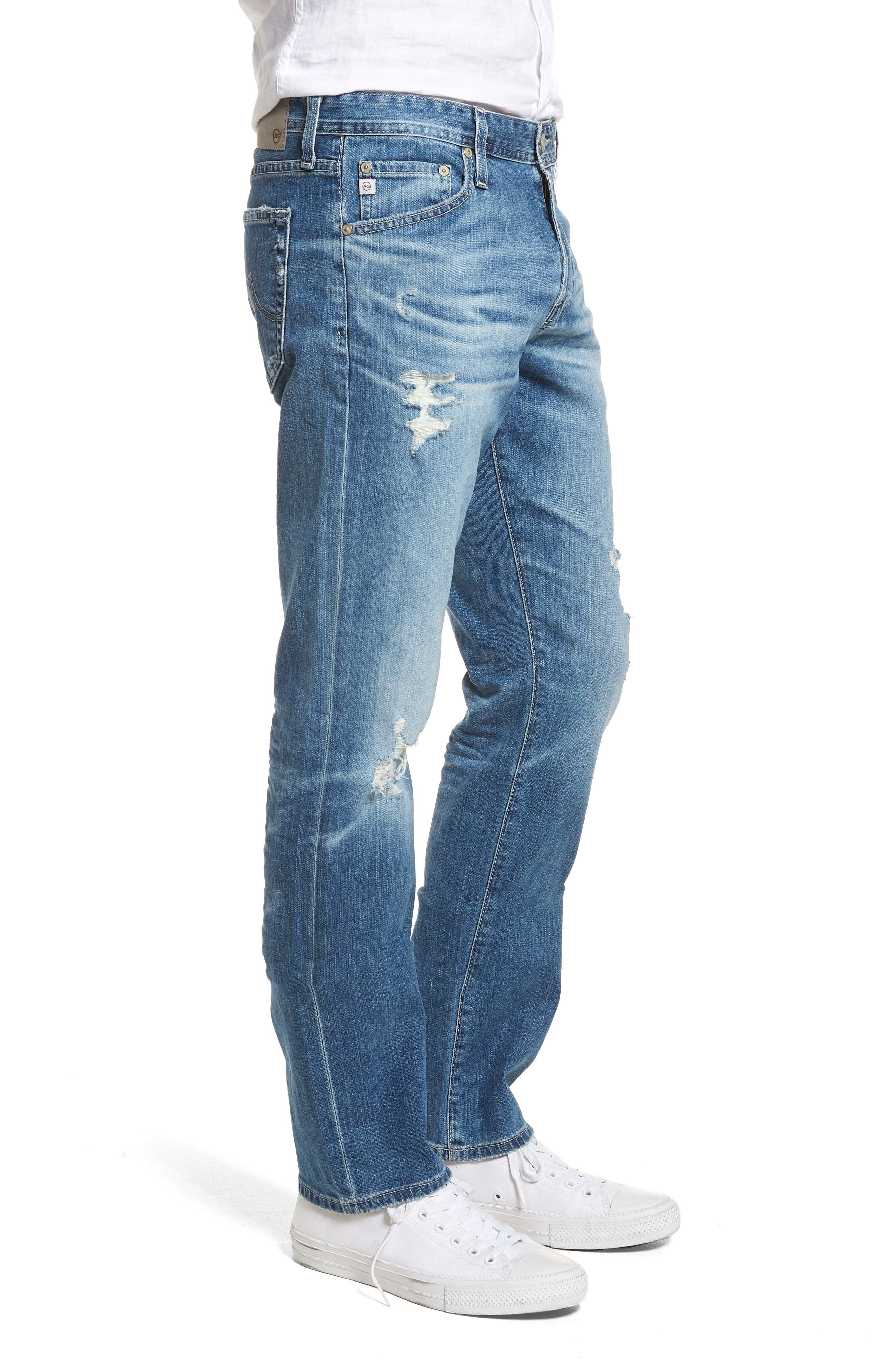 Everett Slim Straight Leg Jeans,                             Alternate thumbnail 3, color,                             15 Years Swept Up