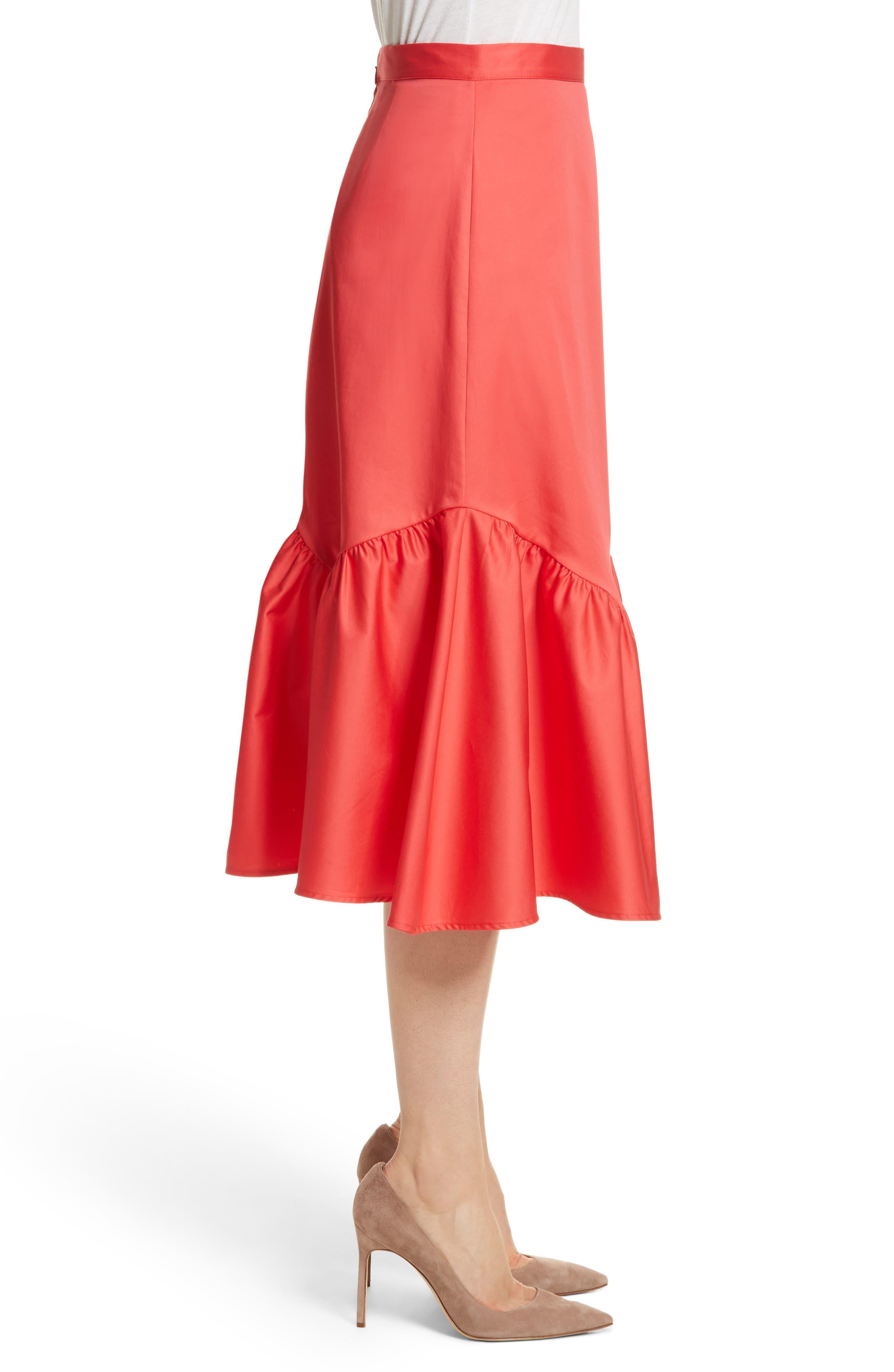 Prose & Poetry Tyra Midi Skirt,                             Alternate thumbnail 3, color,                             Watermelon