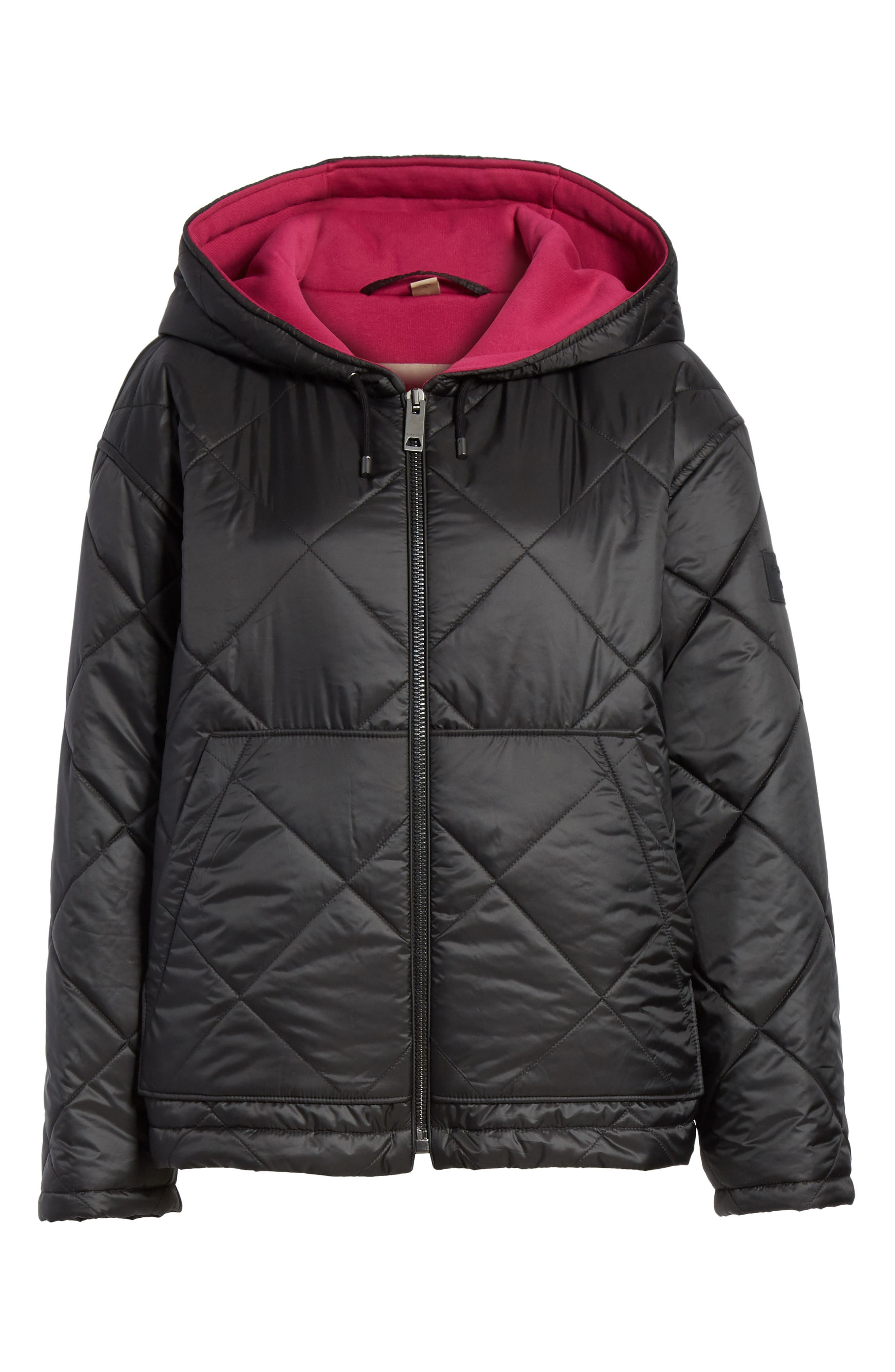 Tyneham Lined Quilted Jacket,                             Alternate thumbnail 6, color,                             Black