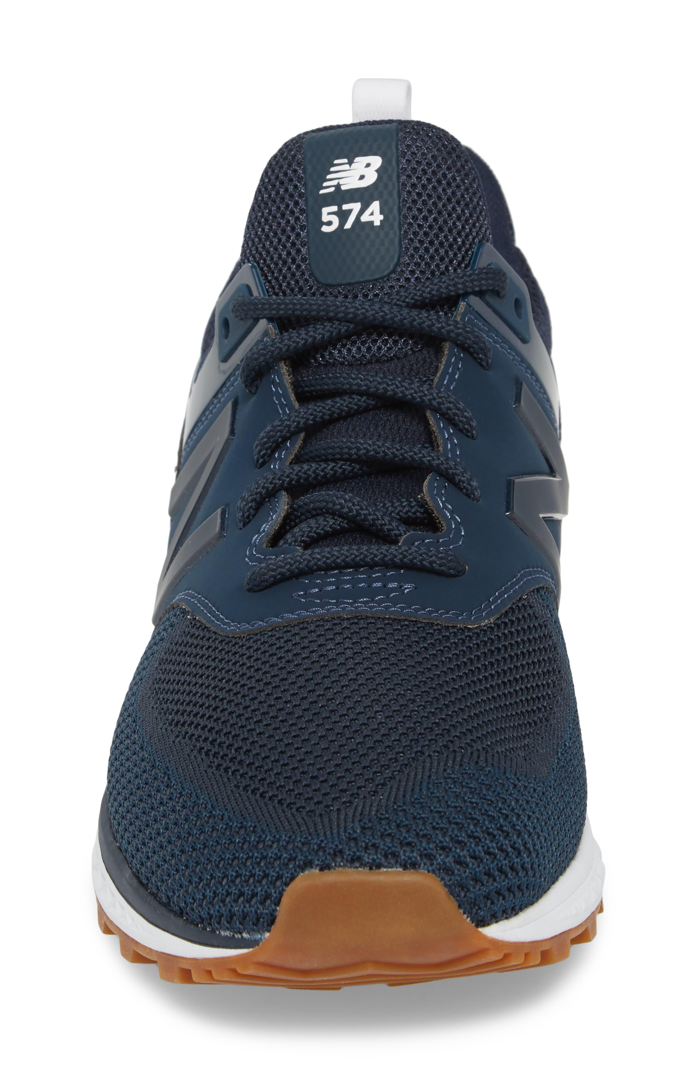 574 Engineered Mesh Sneaker,                             Alternate thumbnail 4, color,                             Vintage Indigo