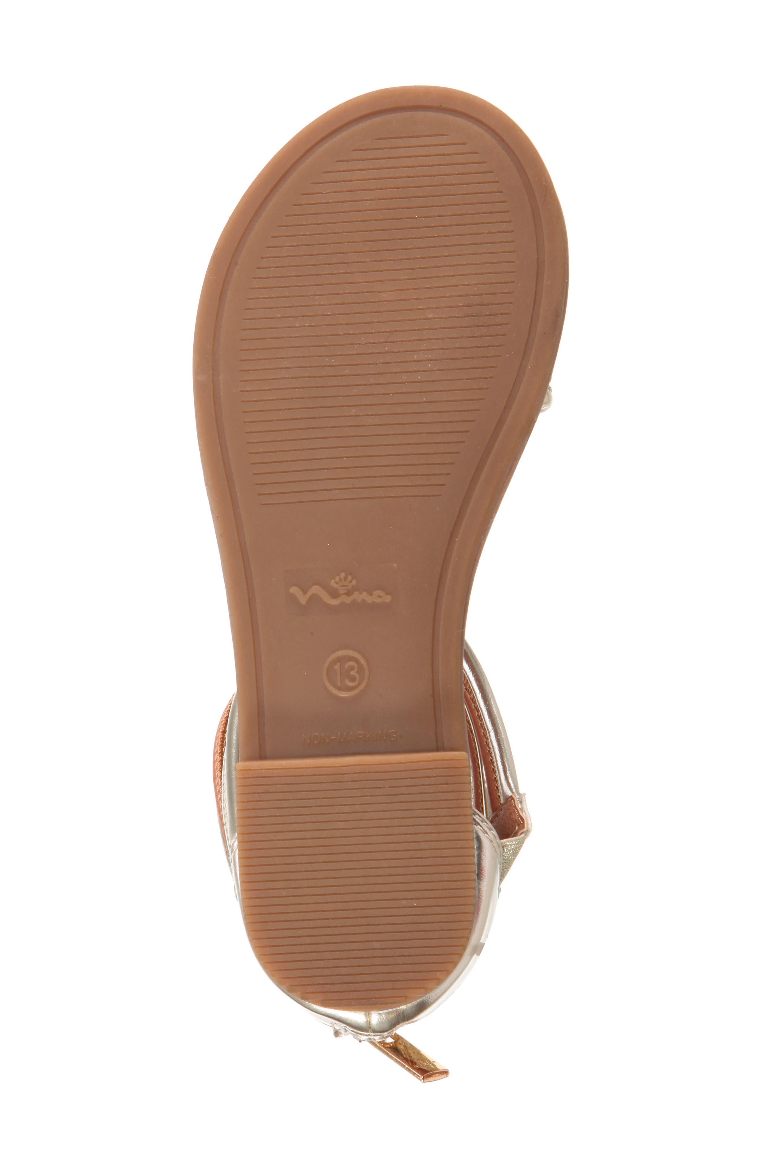 Roxsanne Multistrap Sandal,                             Alternate thumbnail 6, color,                             Platino Metallic