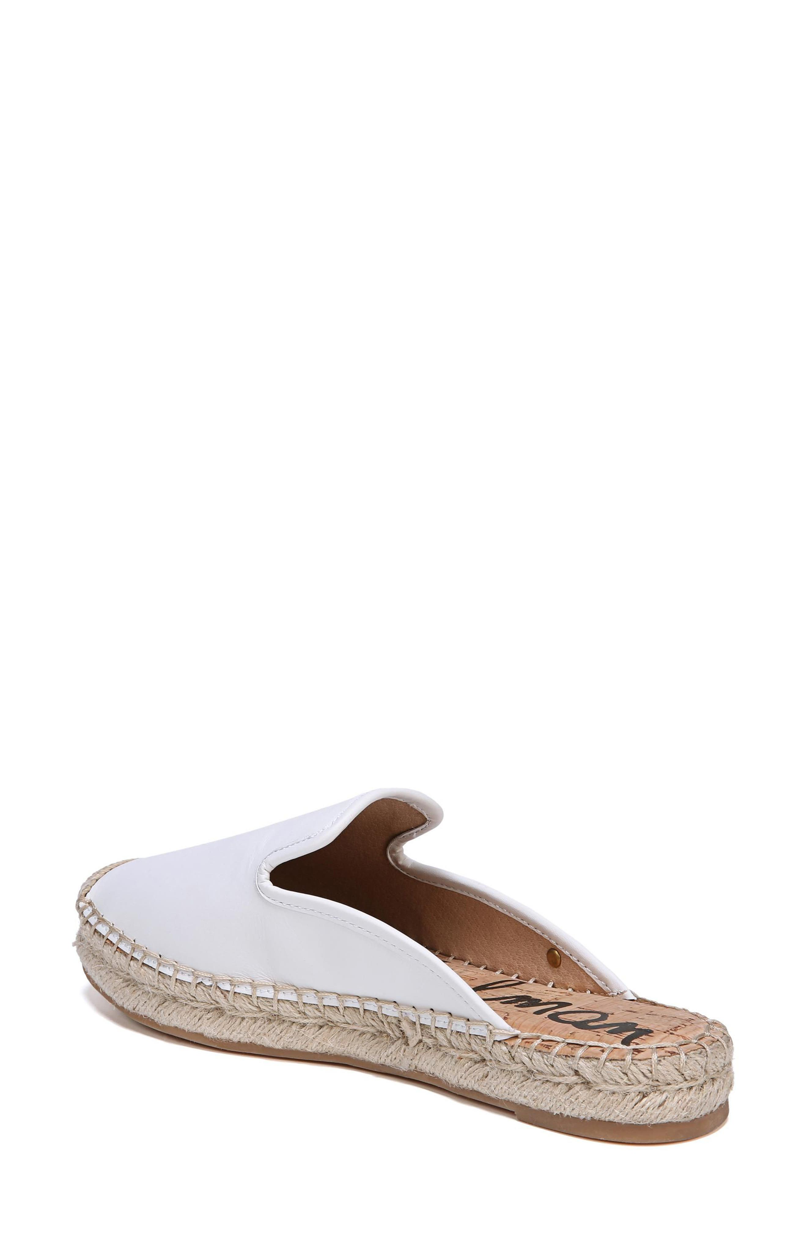 Kerry Espadrille Mule,                             Alternate thumbnail 2, color,                             Bright White Leather