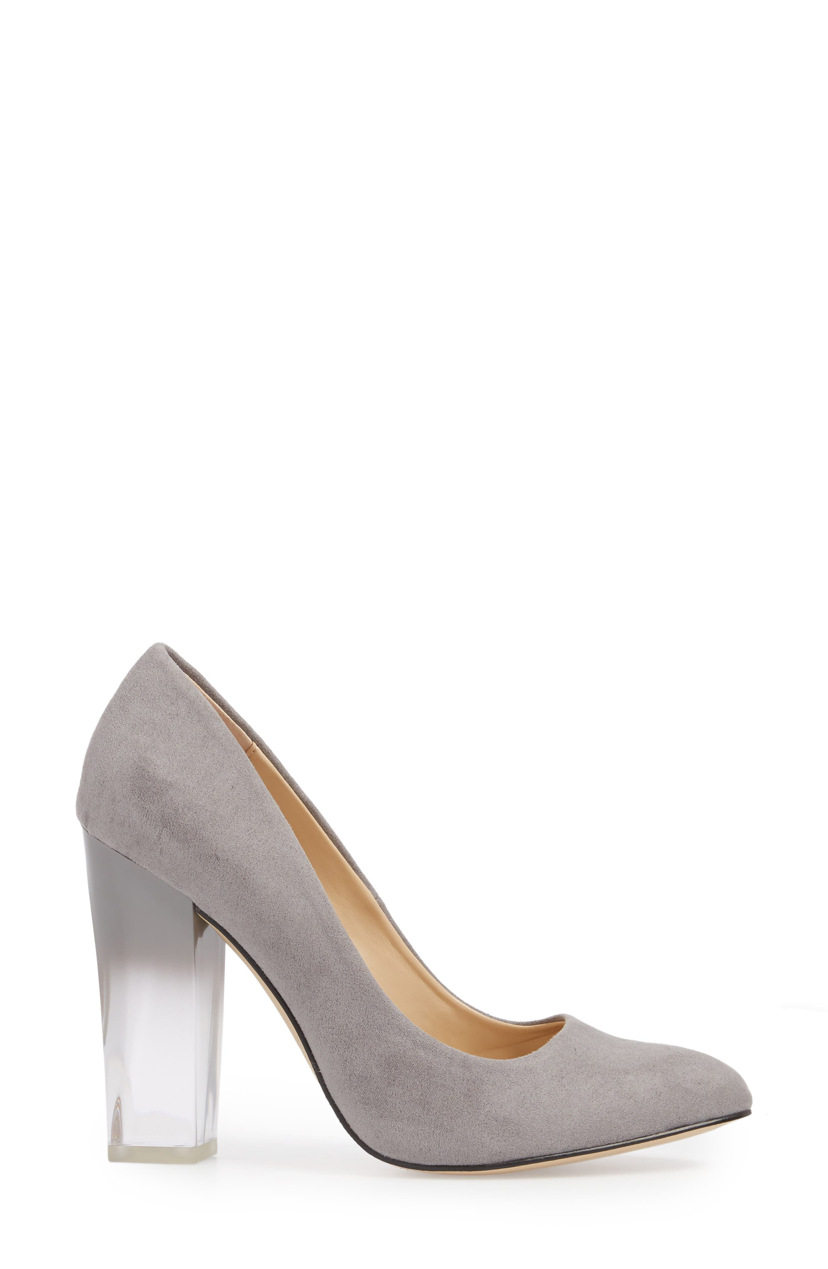 Statement Heel Pump,                             Alternate thumbnail 3, color,                             Dark Nickel