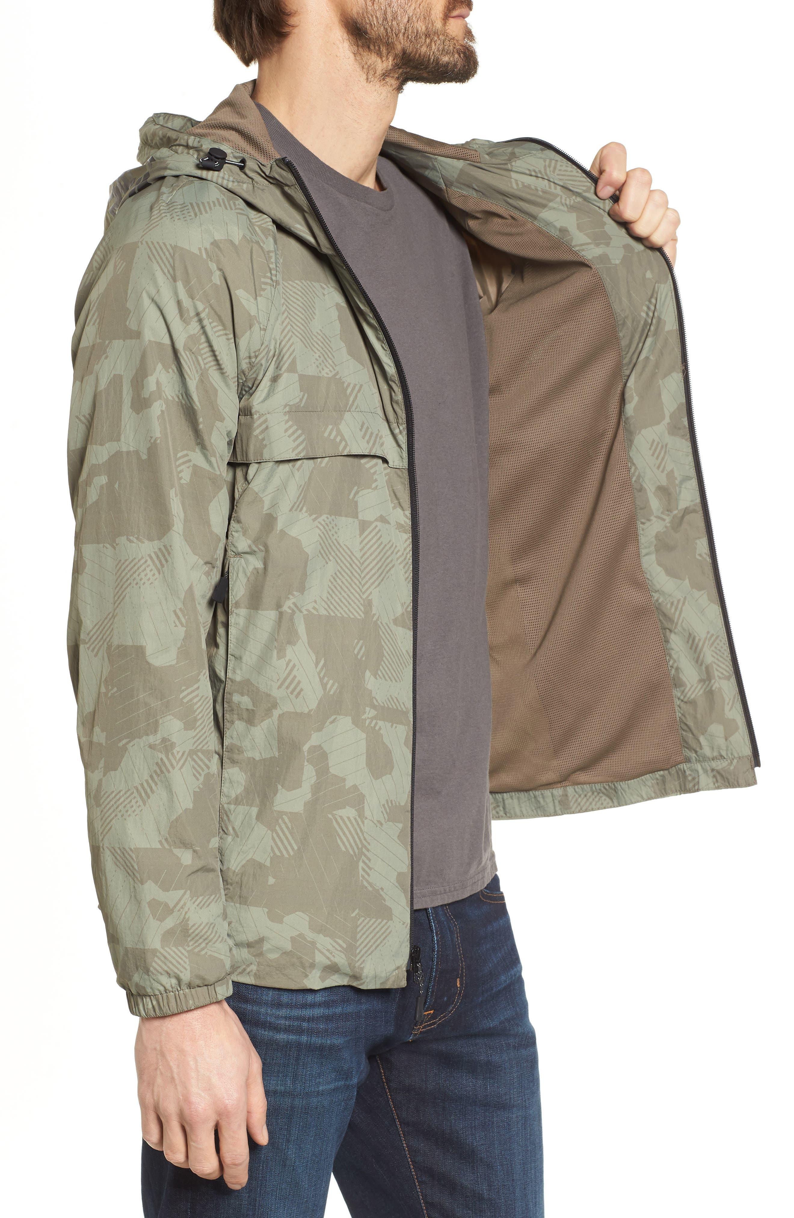 Camo Windbreaker Jacket,                             Alternate thumbnail 3, color,                             Bungee Cord Camo