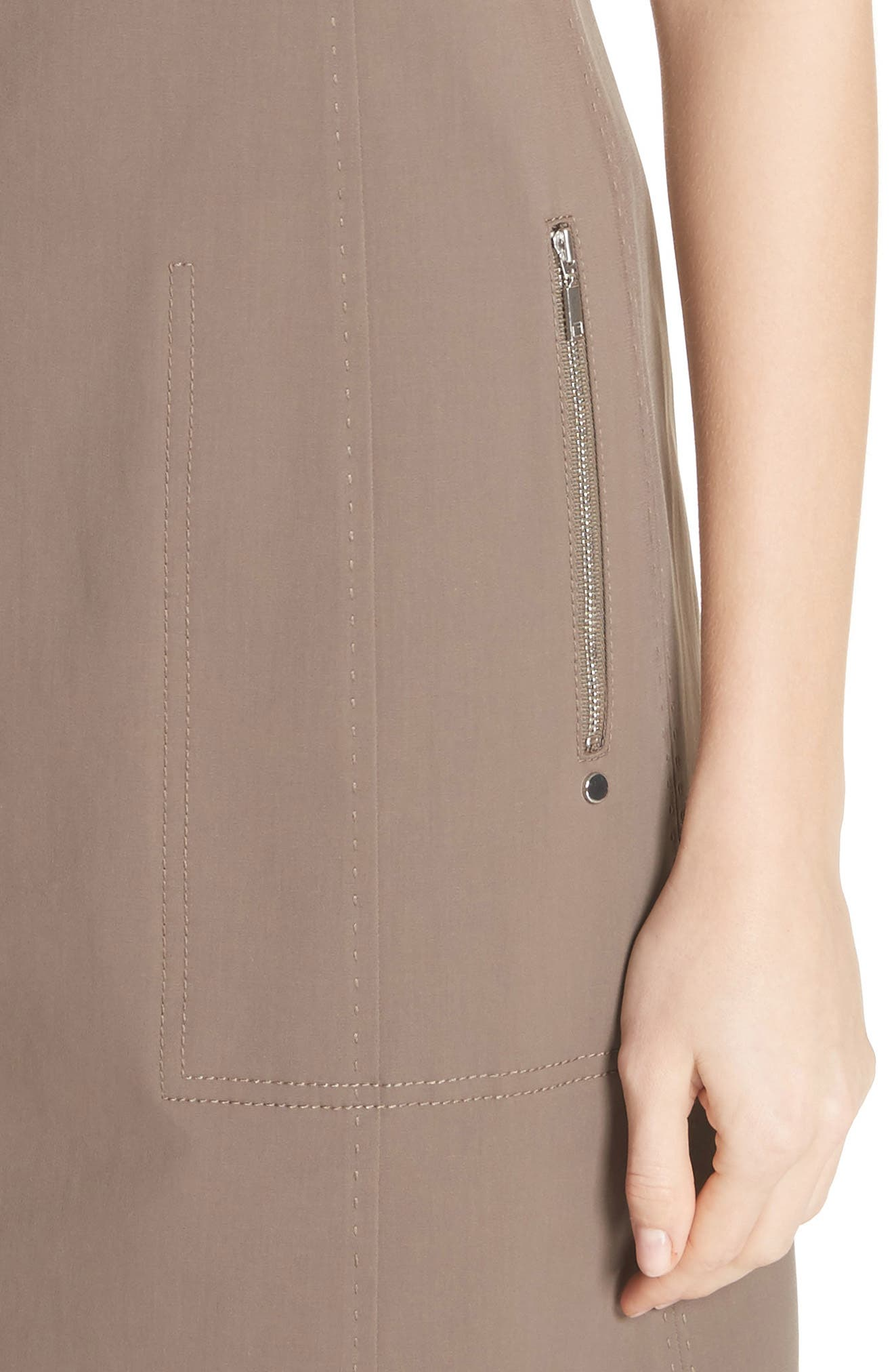 Paxton Sleeveless Sheath Dress,                             Alternate thumbnail 4, color,                             Nougat