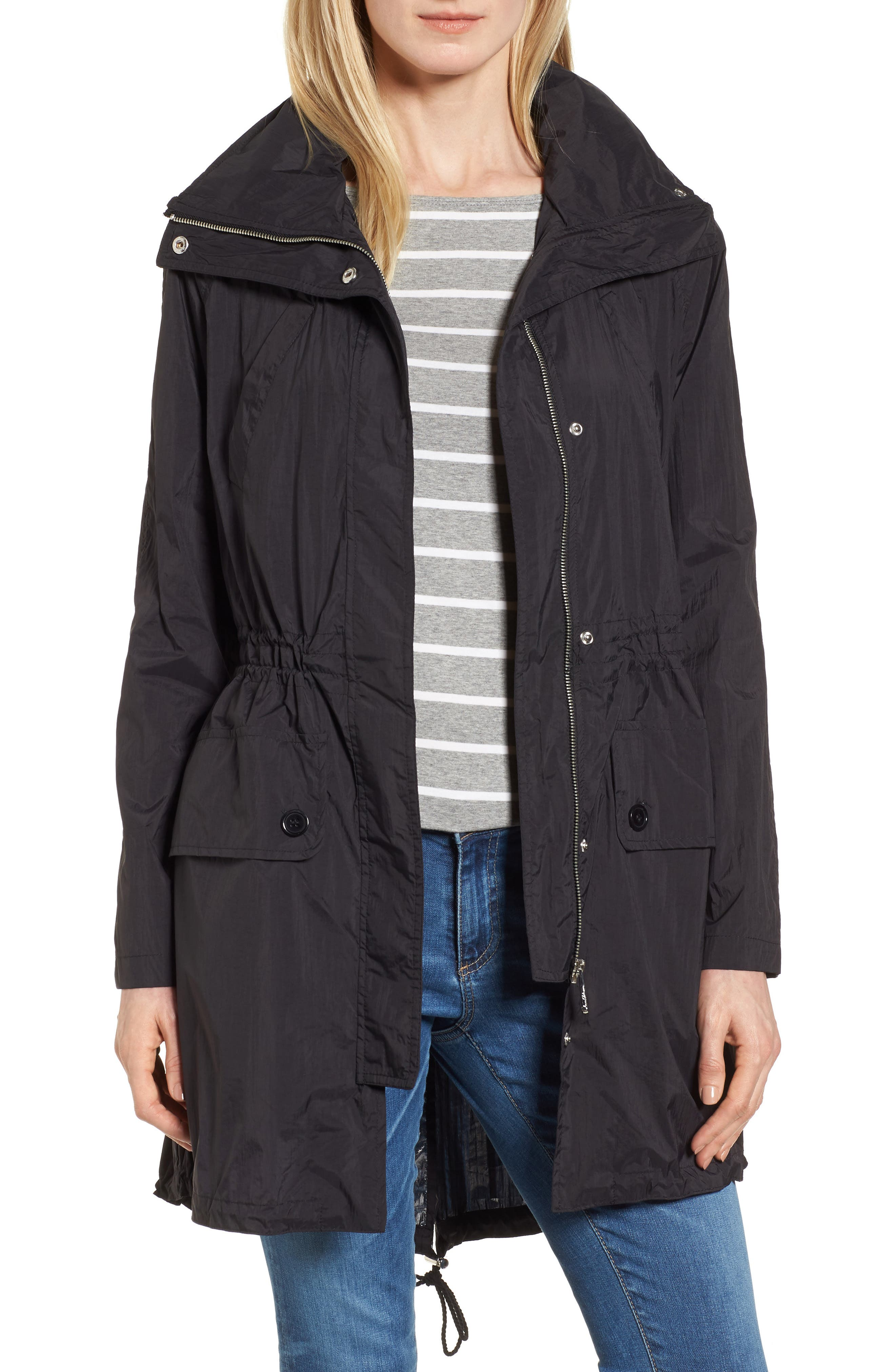 Alternate Image 1 Selected - Sam Edelman Crinkle Anorak Jacket