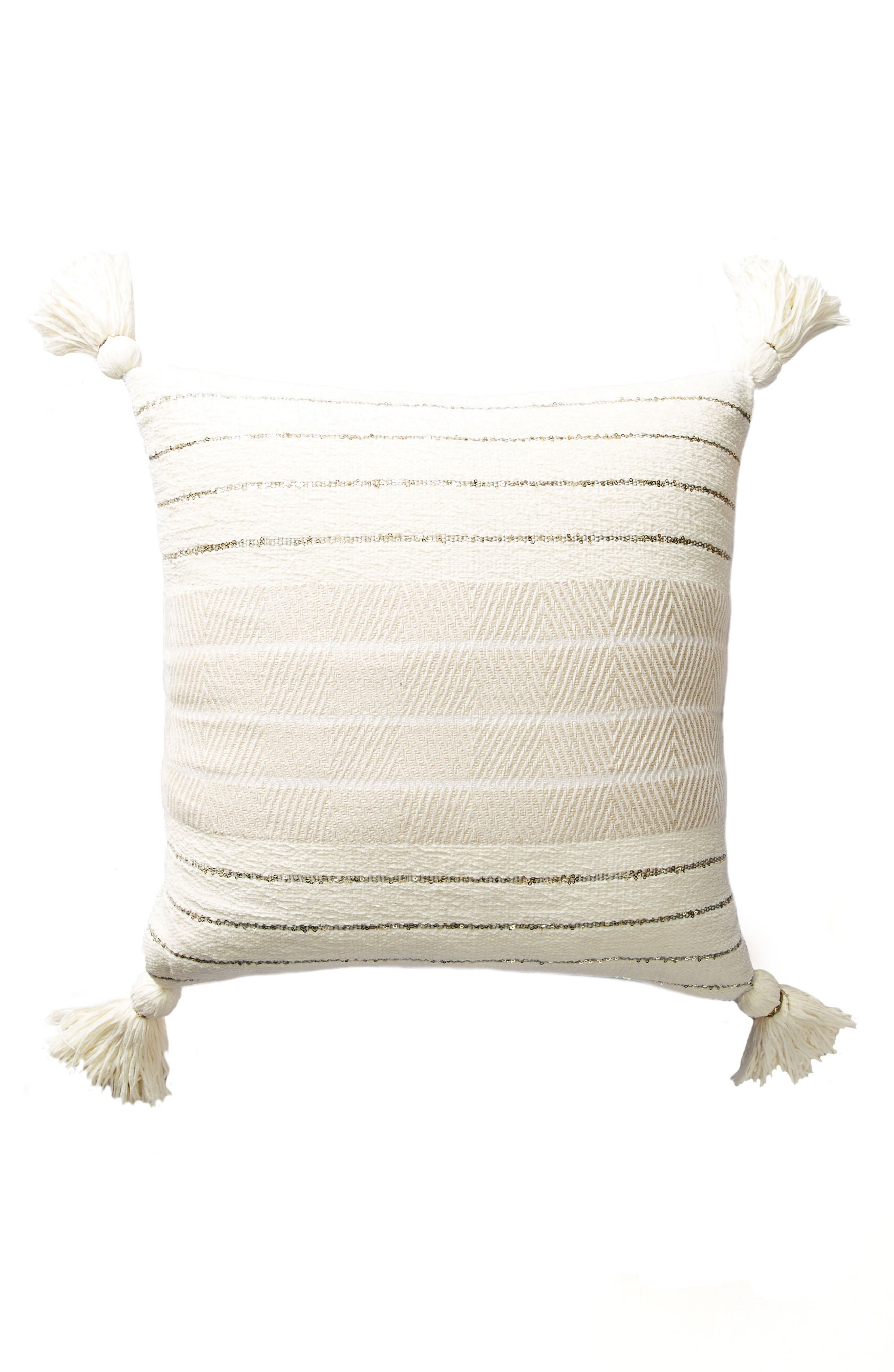Caroline Accent Pillow,                             Alternate thumbnail 5, color,                             Ivory