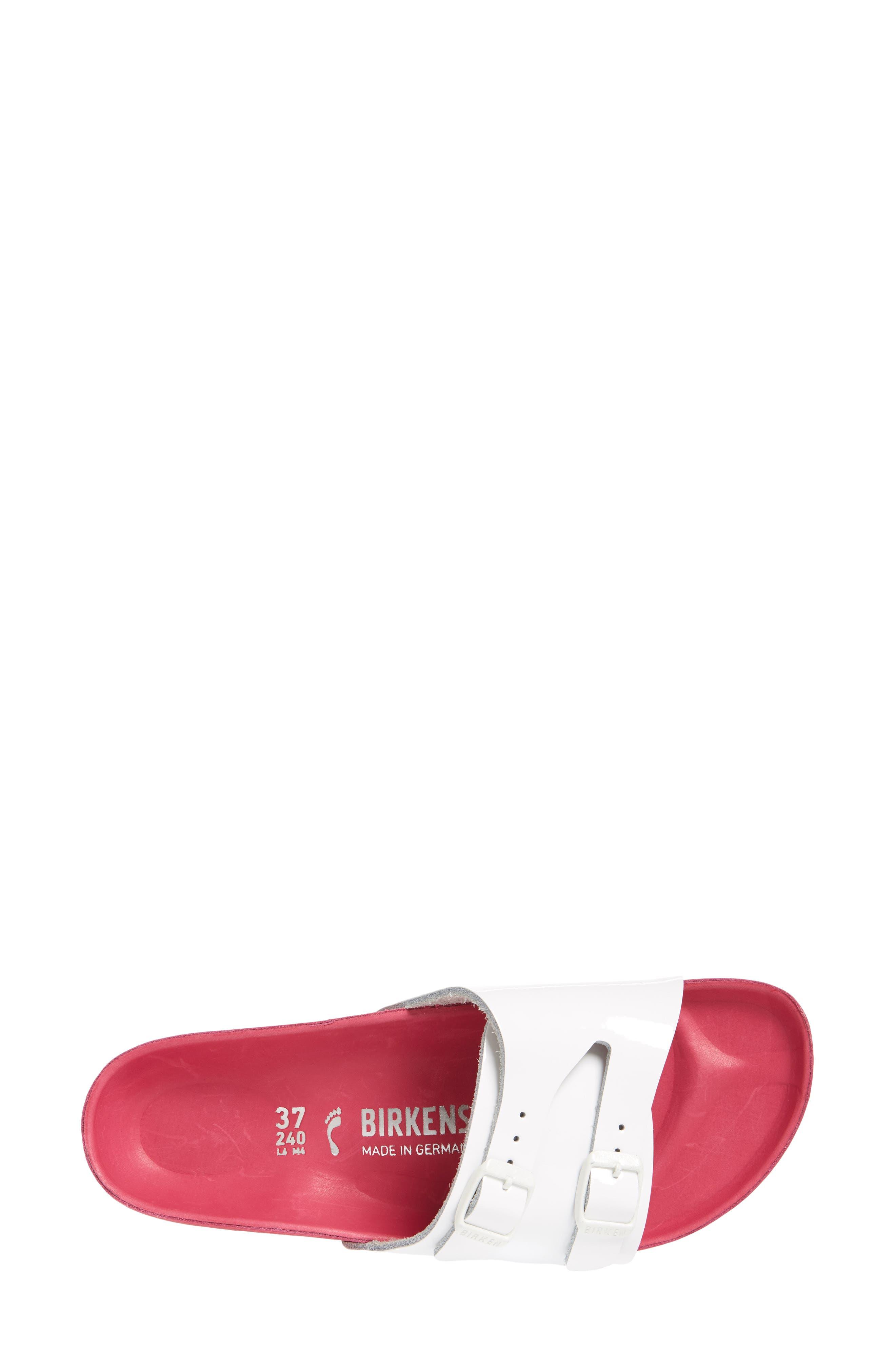 Vaduz Exquisite Limited Edition - Shock Drop Sandal,                             Alternate thumbnail 5, color,                             White Leather