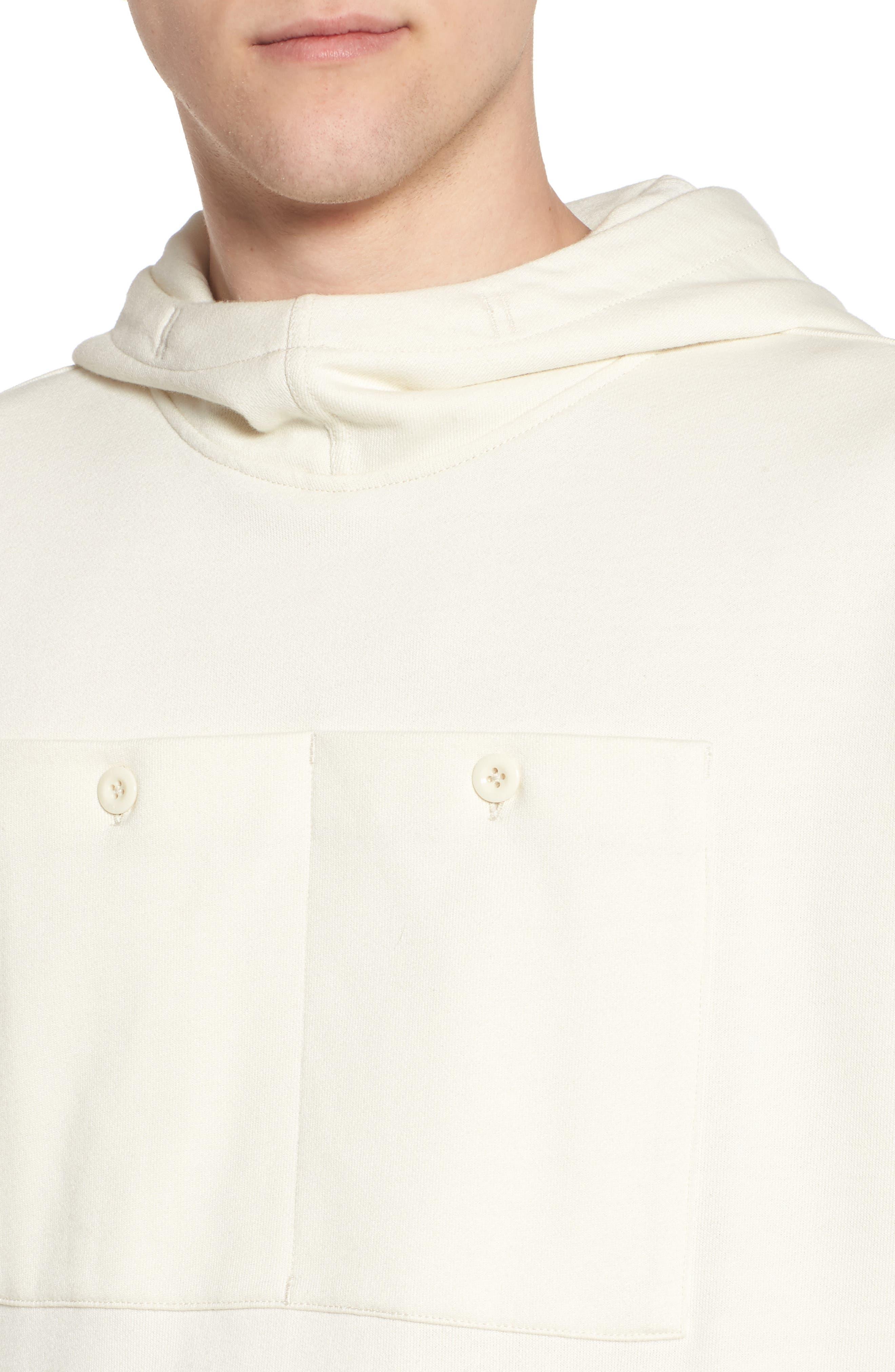 Core Hybrid Archive Hooded Sweatshirt,                             Alternate thumbnail 4, color,                             Ivory
