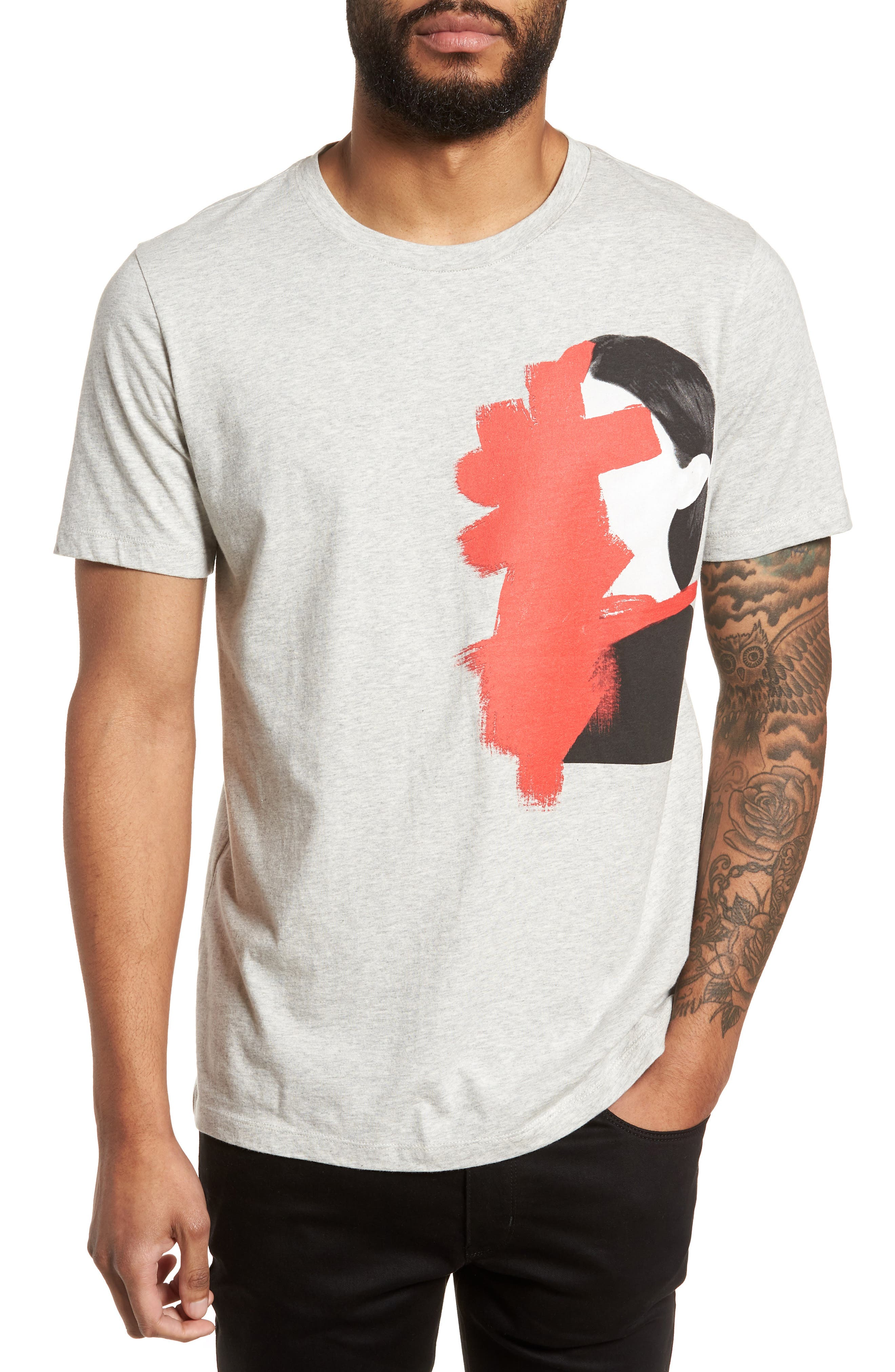 Drush Slim Fit Graphic T-Shirt,                         Main,                         color, Grey