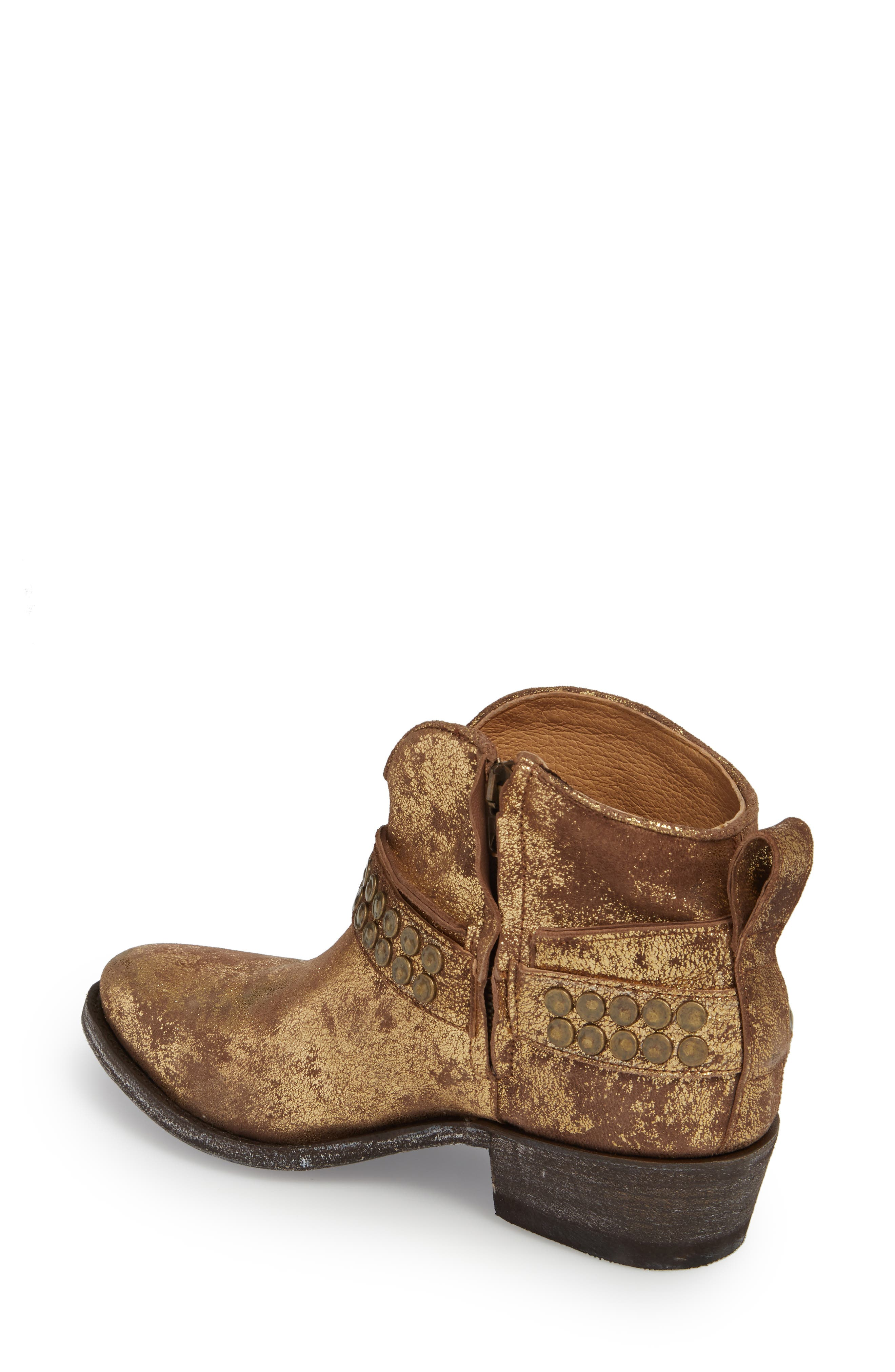 Serene Bootie,                             Alternate thumbnail 2, color,                             Gold Suede