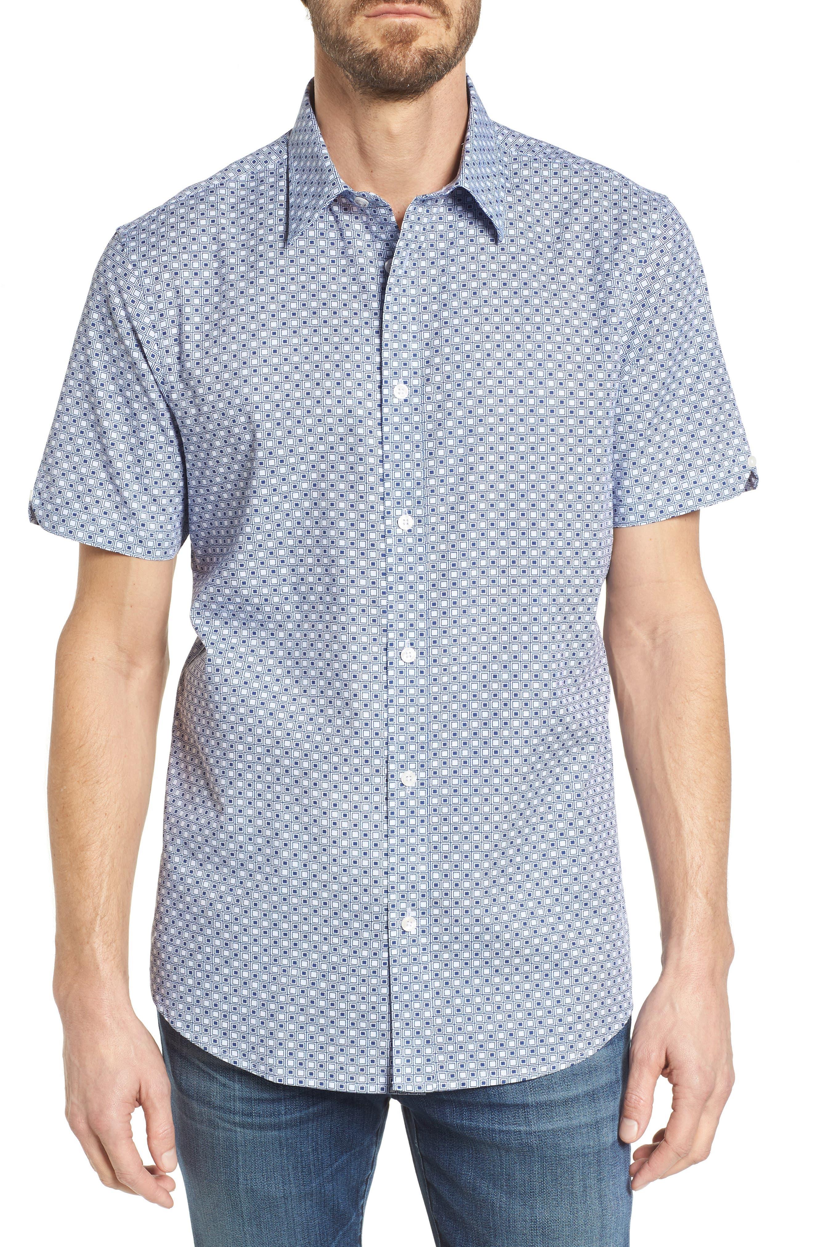 Ben Sherman Geo Target Print Sport Shirt