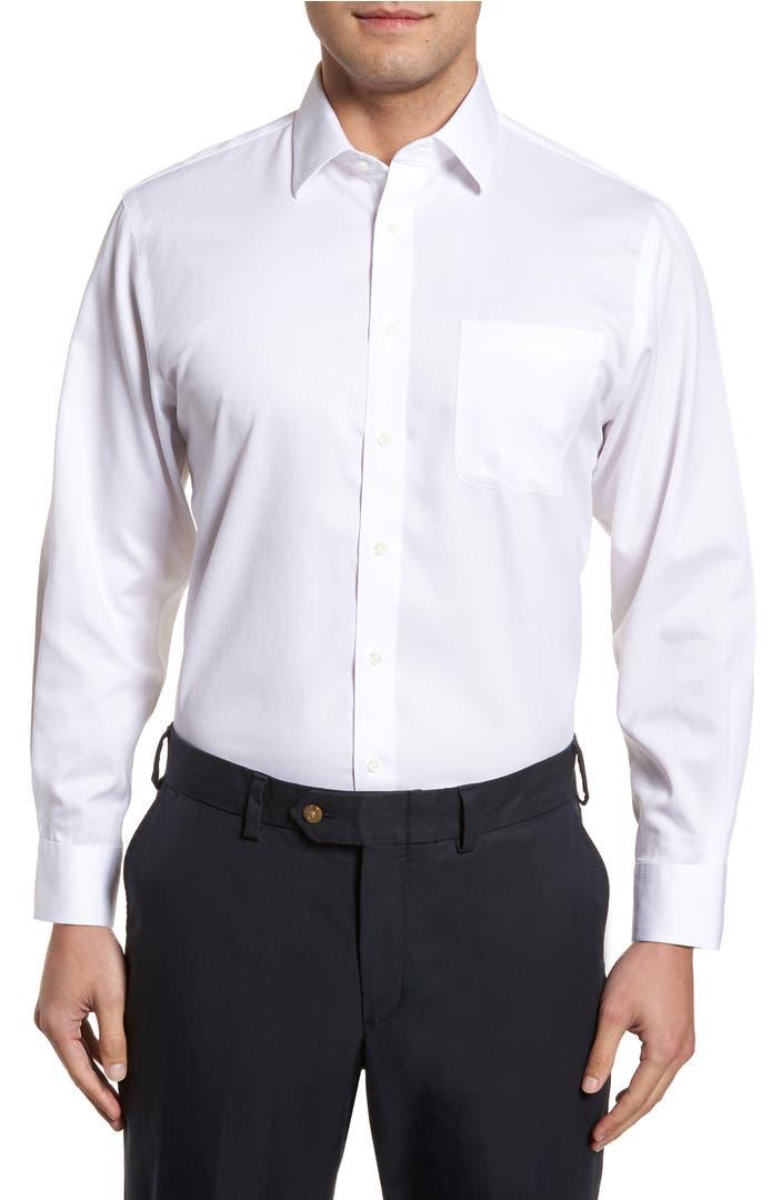 Nordstrom men 39 s shop smartcare traditional fit stripe for Mens dress shirts black friday