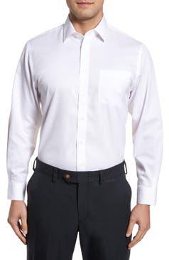 Nordstrom Mens Shop Smartcare Traditional Fit Stripe Dress Shirt