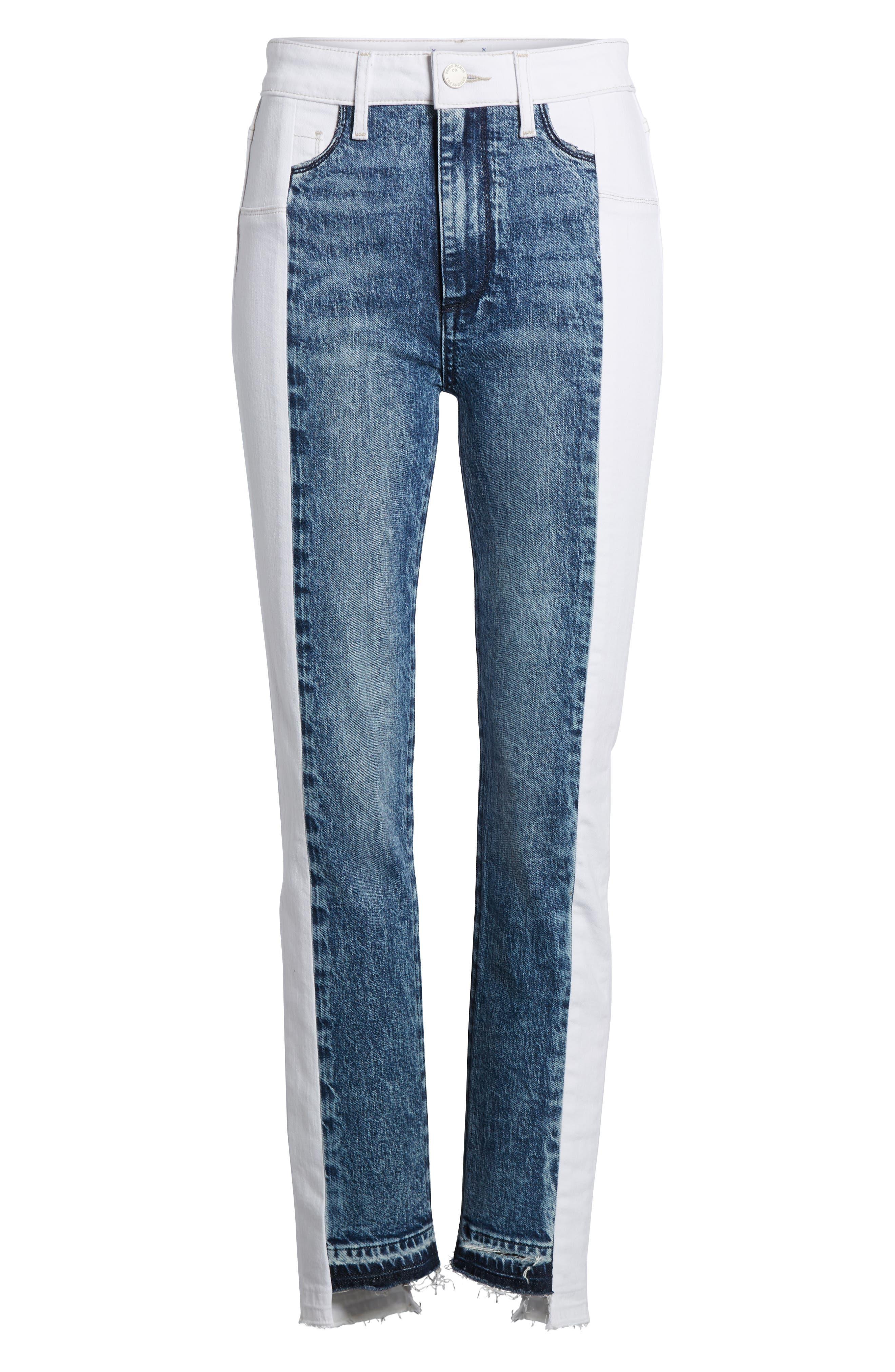 Hoxton High Waist Ankle Straight Leg Jeans,                             Alternate thumbnail 9, color,                             Agnes