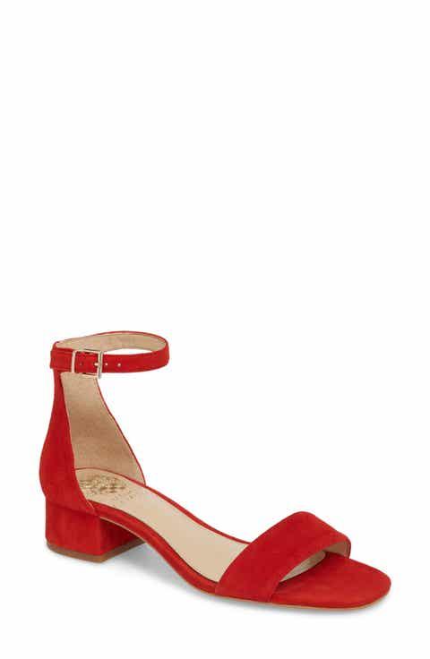 Women S Red Low Heel 1 Quot 2 Quot Sandals Sandals For Women