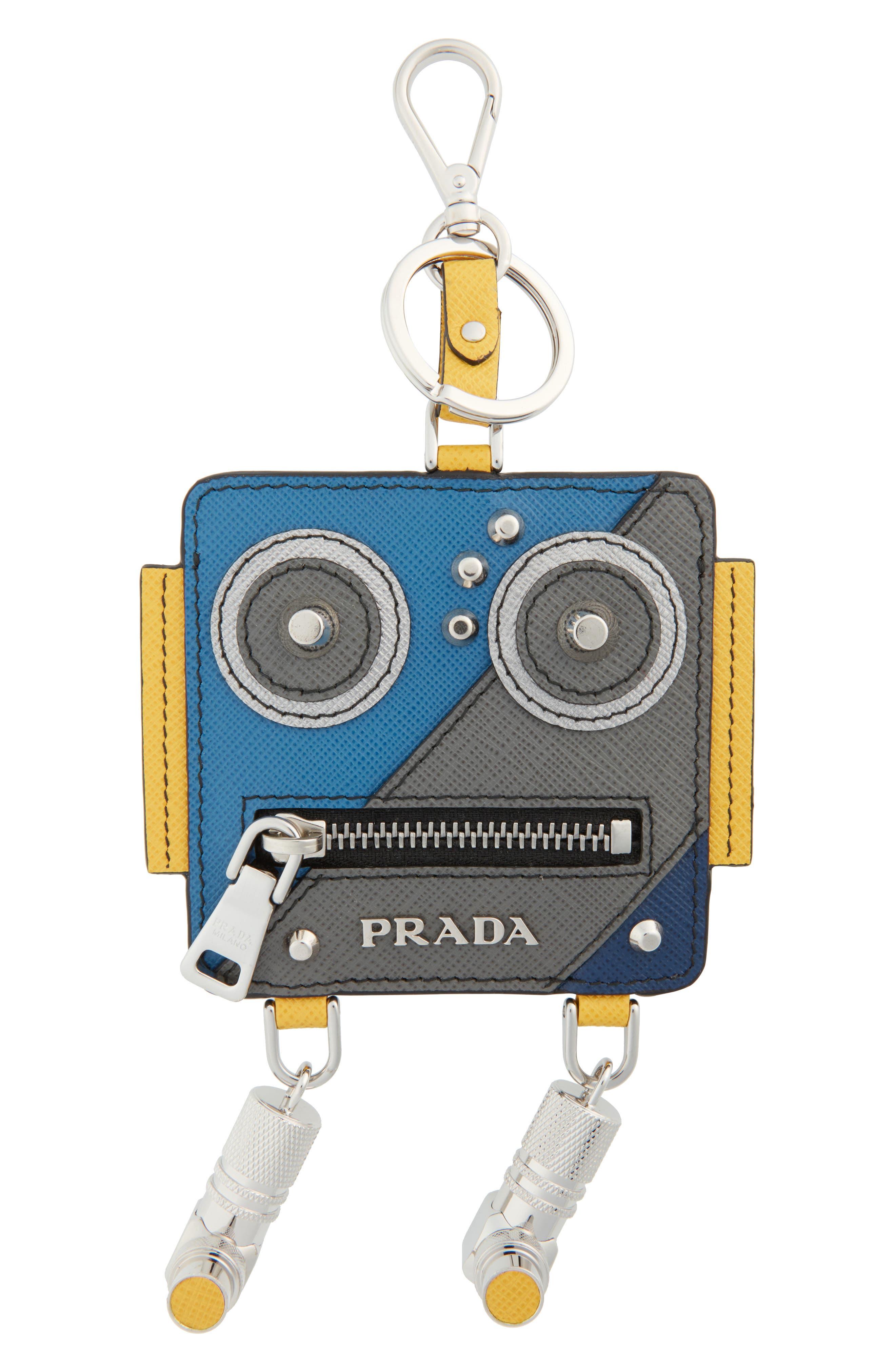 Prada Robot Leather Key Chain