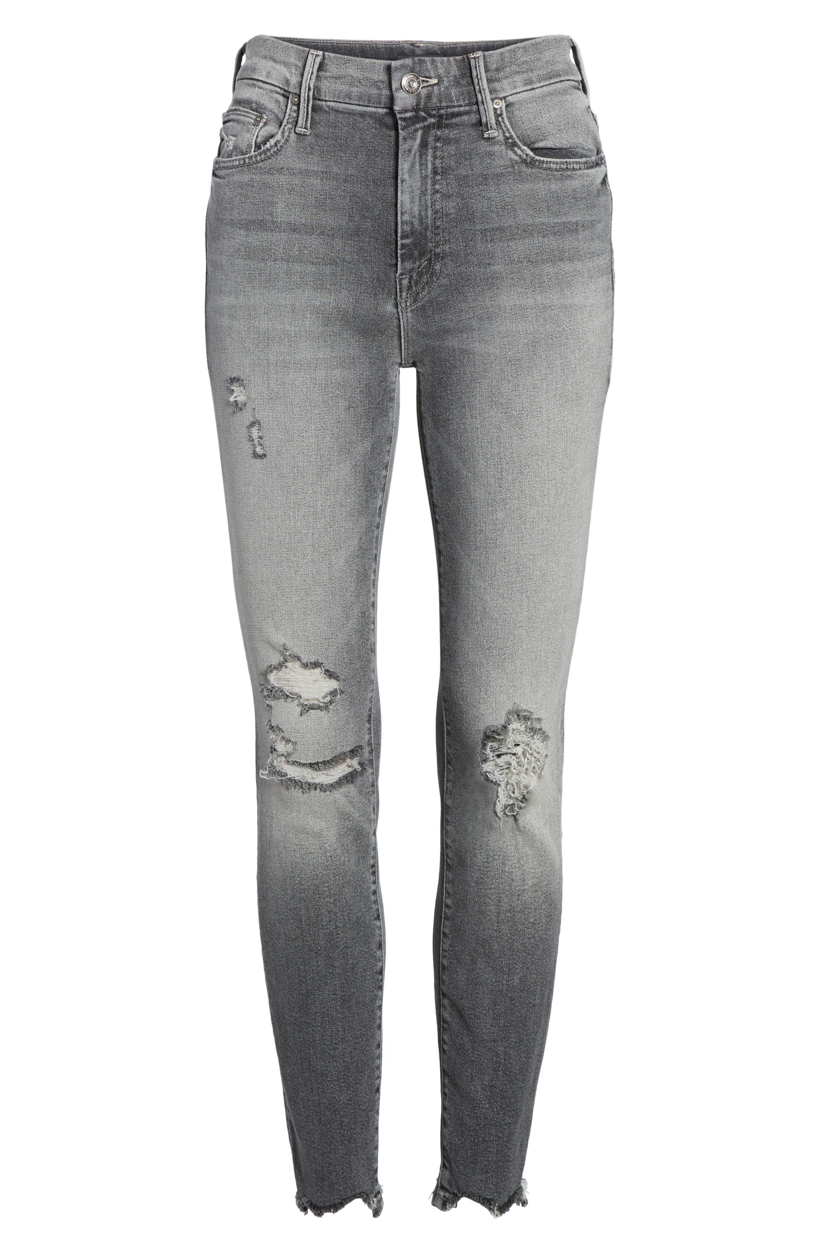 The Looker High Waist Ankle Skinny Jeans,                             Alternate thumbnail 7, color,                             Scene Of The Crime