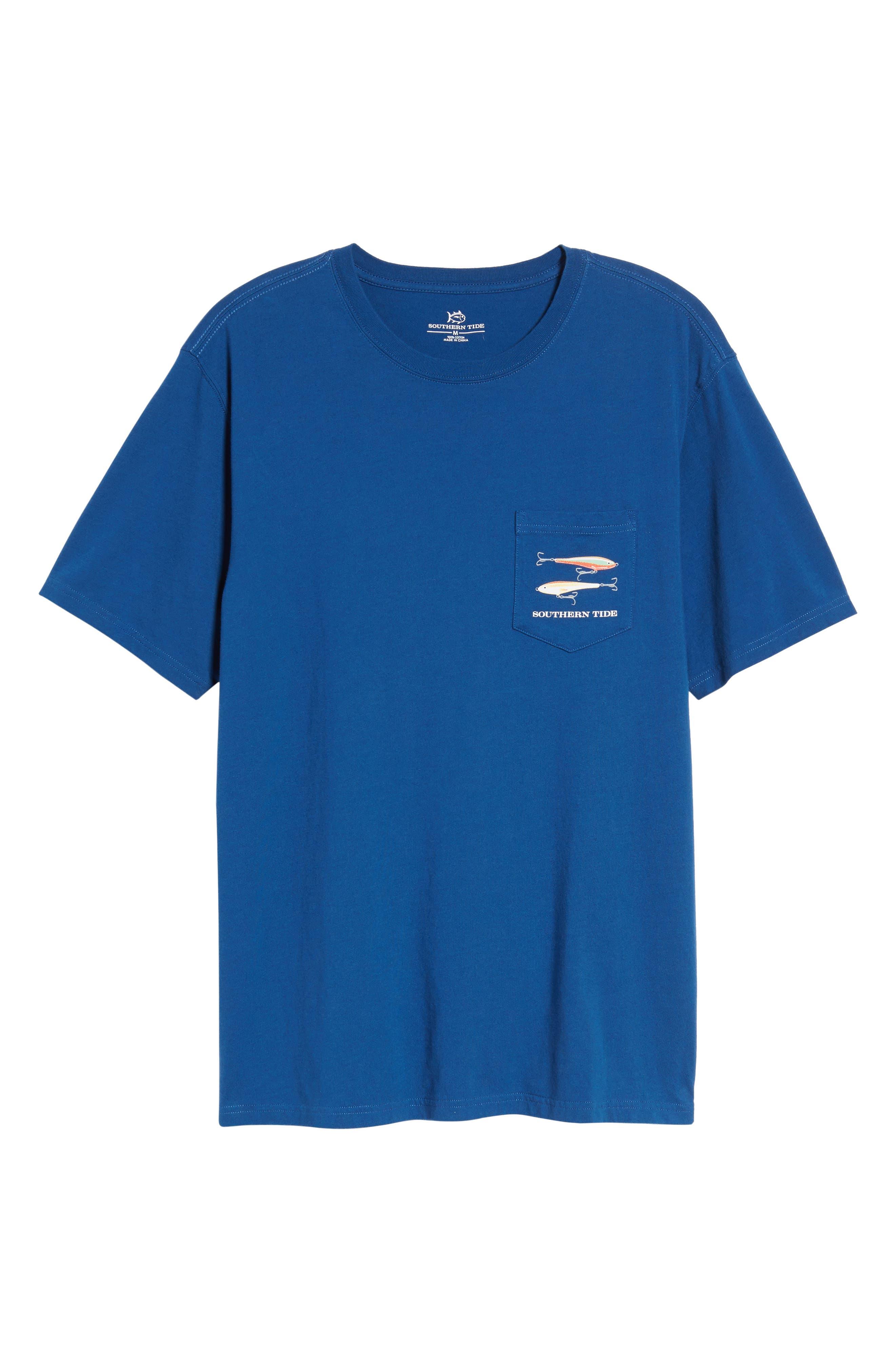 Hanging Out Regular Fit T-Shirt,                             Alternate thumbnail 6, color,                             Blue Lake