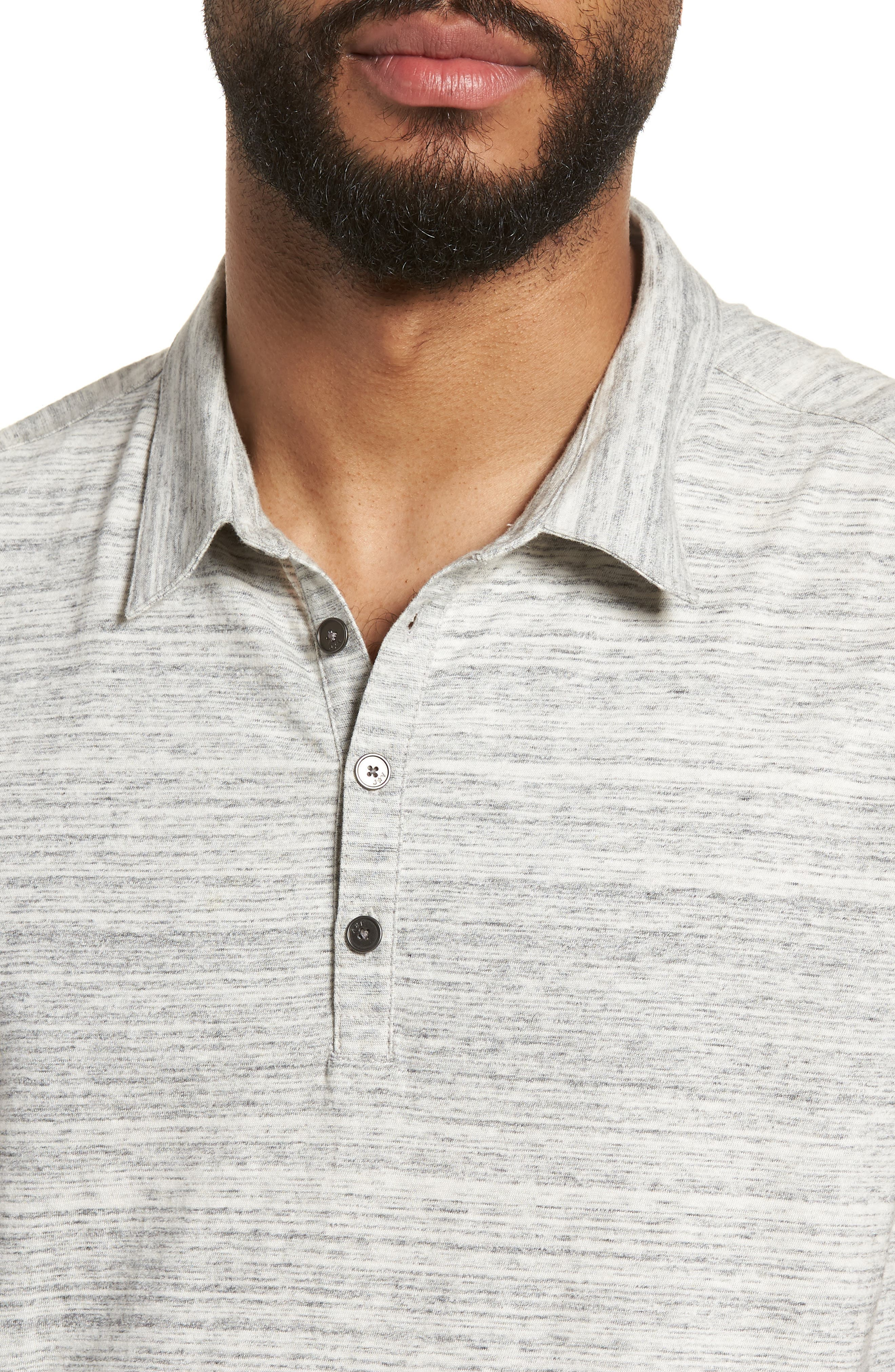 Slim Fit Polo,                             Alternate thumbnail 4, color,                             Griffin Grey