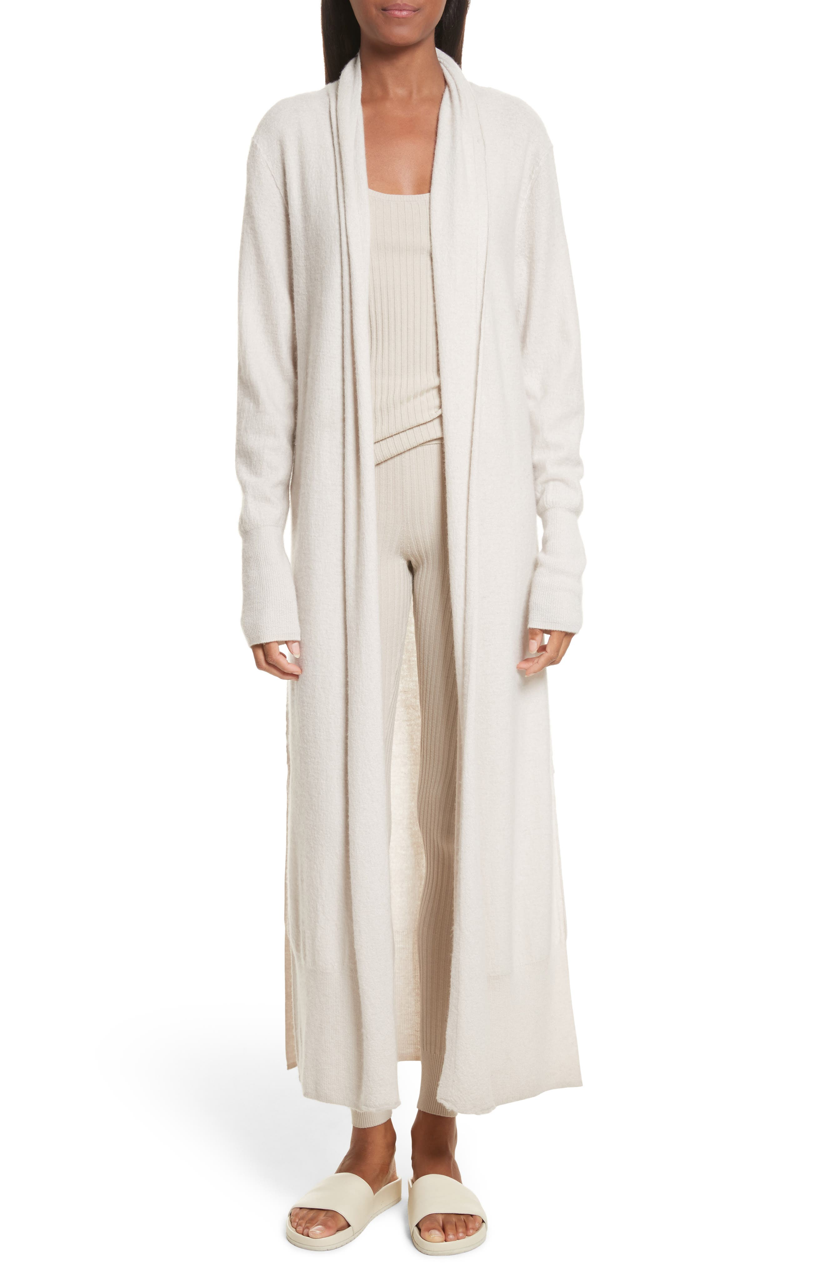 Main Image - Vince Side Slit Long Cardigan