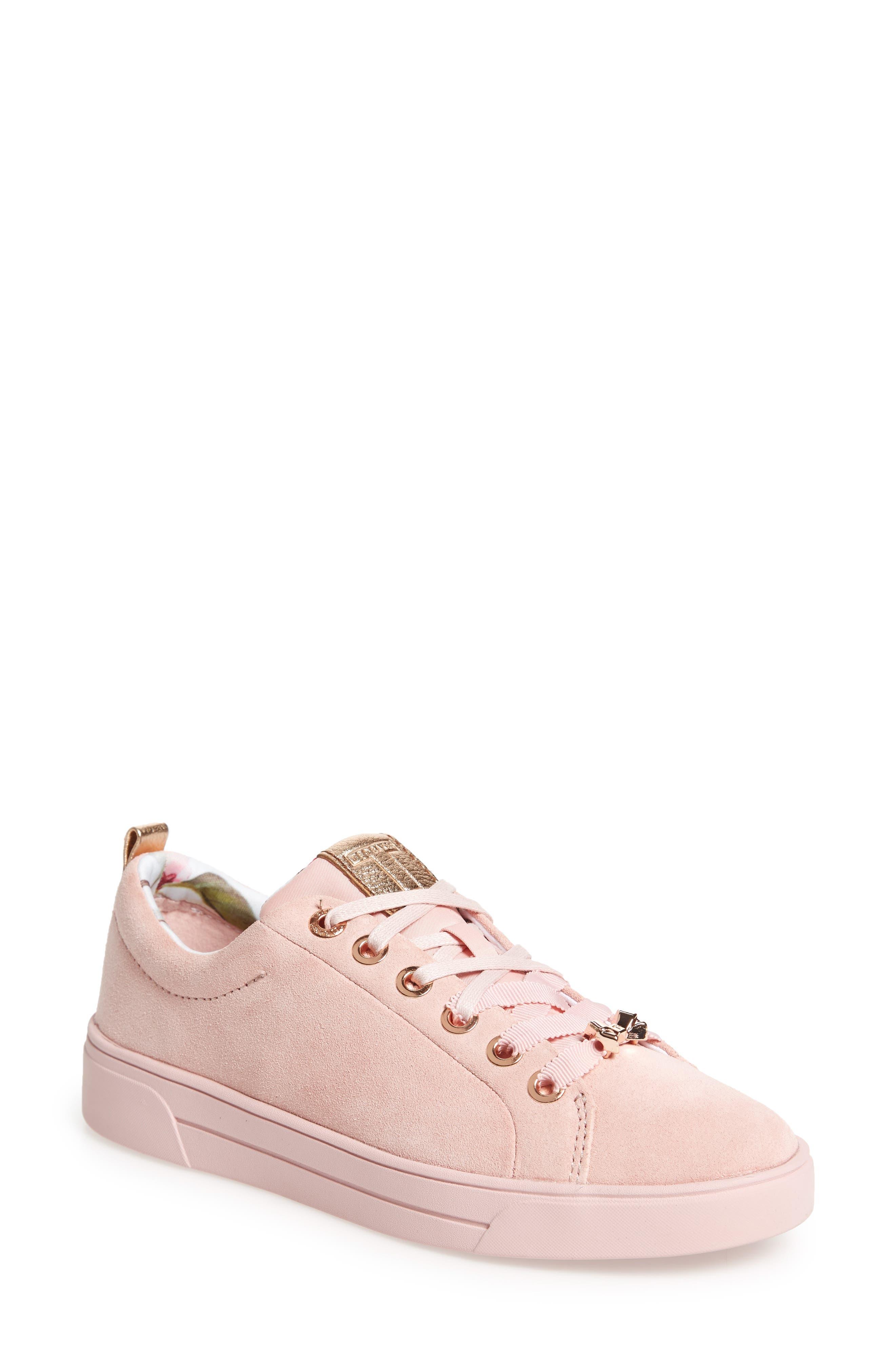 Kelleip Sneaker,                         Main,                         color, Mink Pink Suede